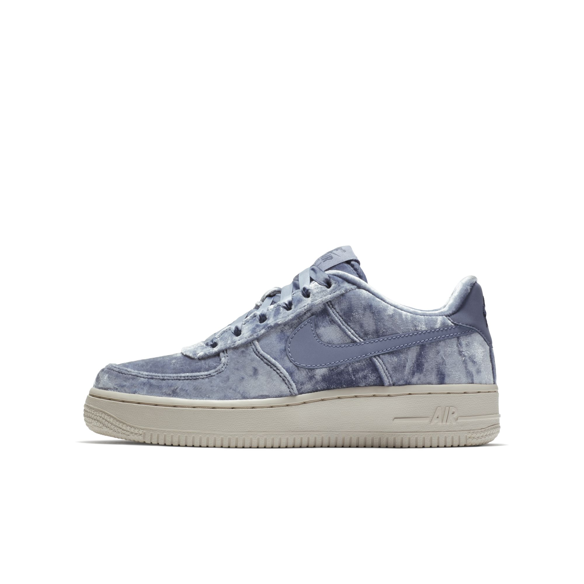 velour nike air force 1 dark sky blue 2