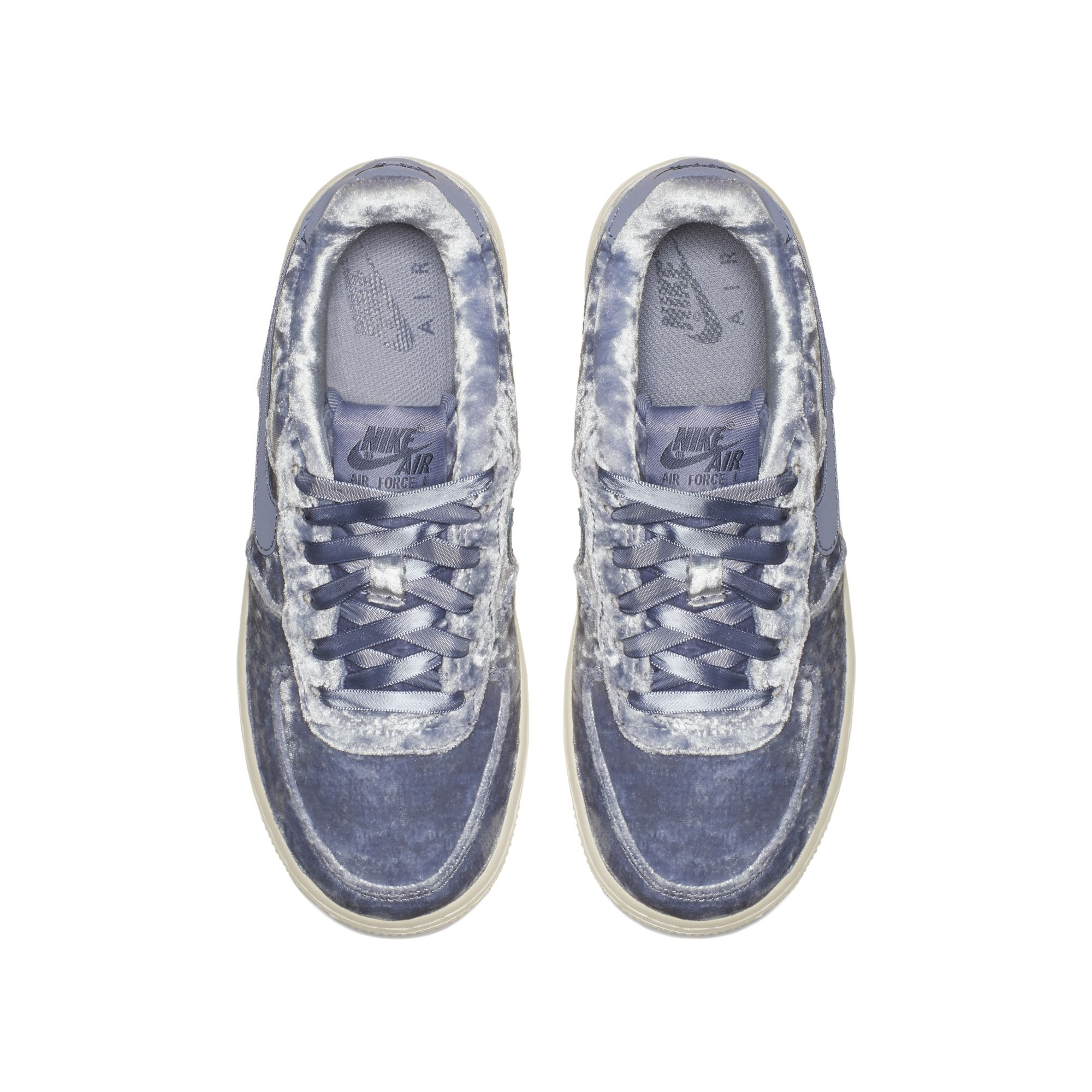 velour nike air force 1 dark sky blue 3