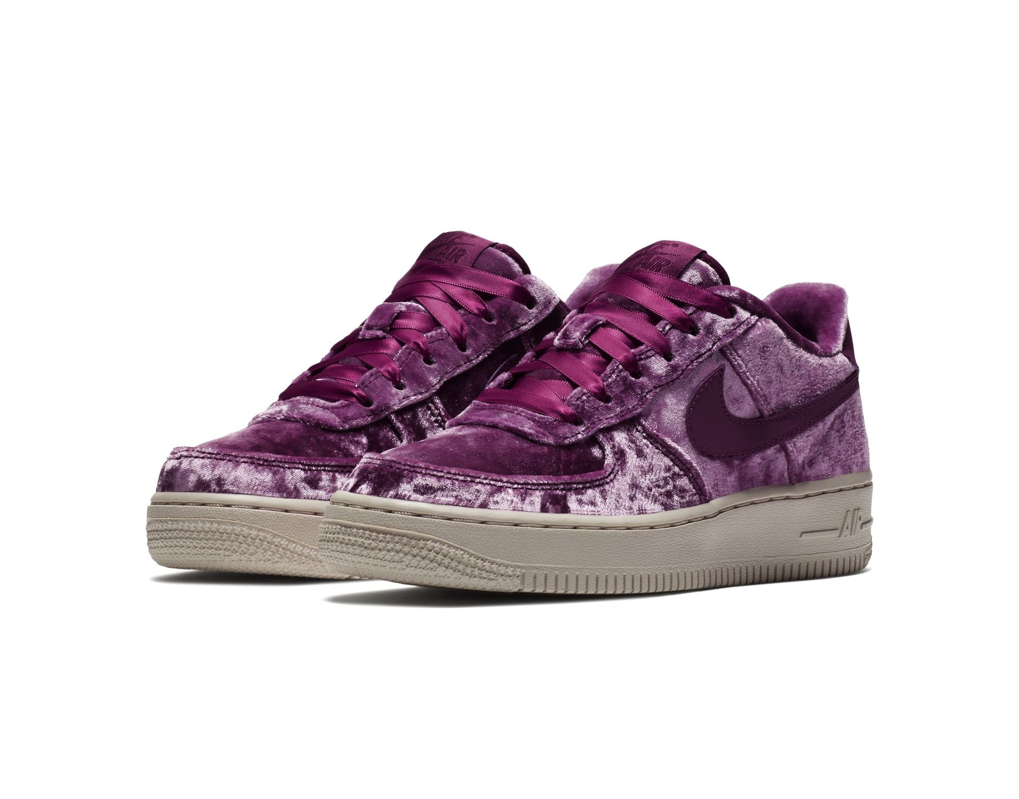 velour nike air force 1 tea berry 1