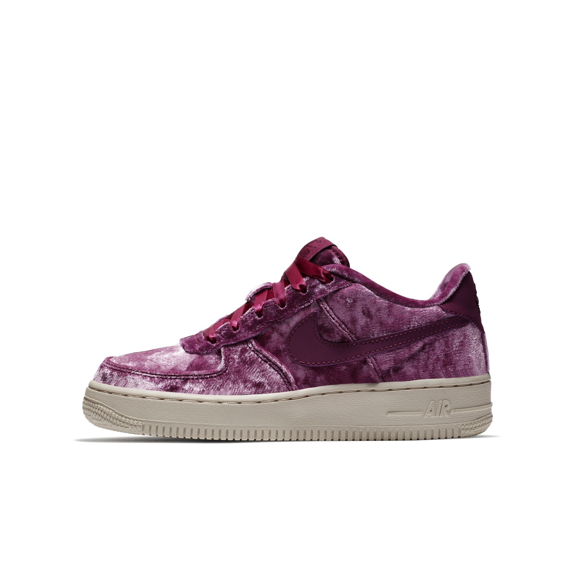 velour nike air force 1 tea berry 2