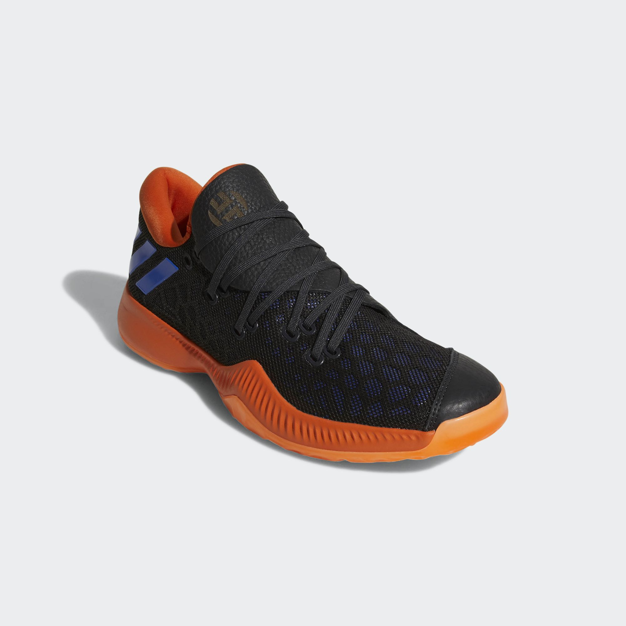 adidas harden b/e black orange blue 2