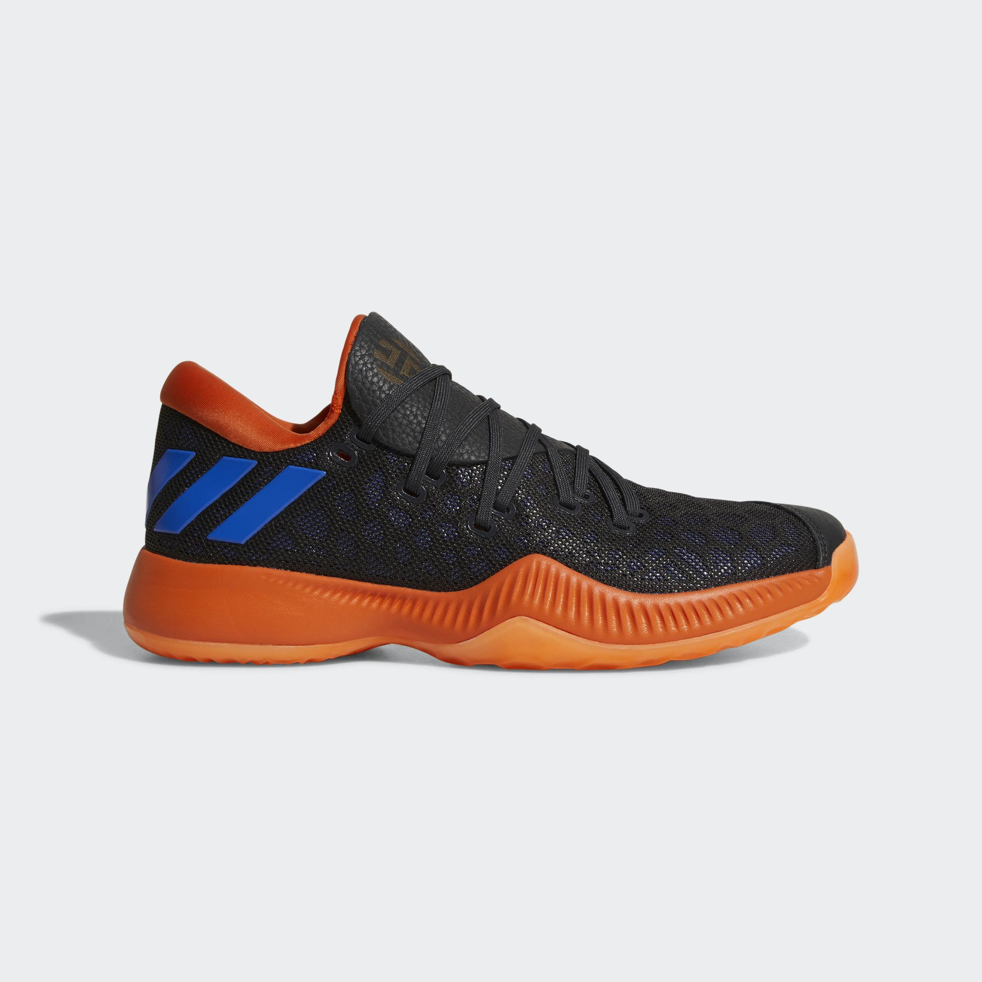 adidas harden b/e black orange blue 3