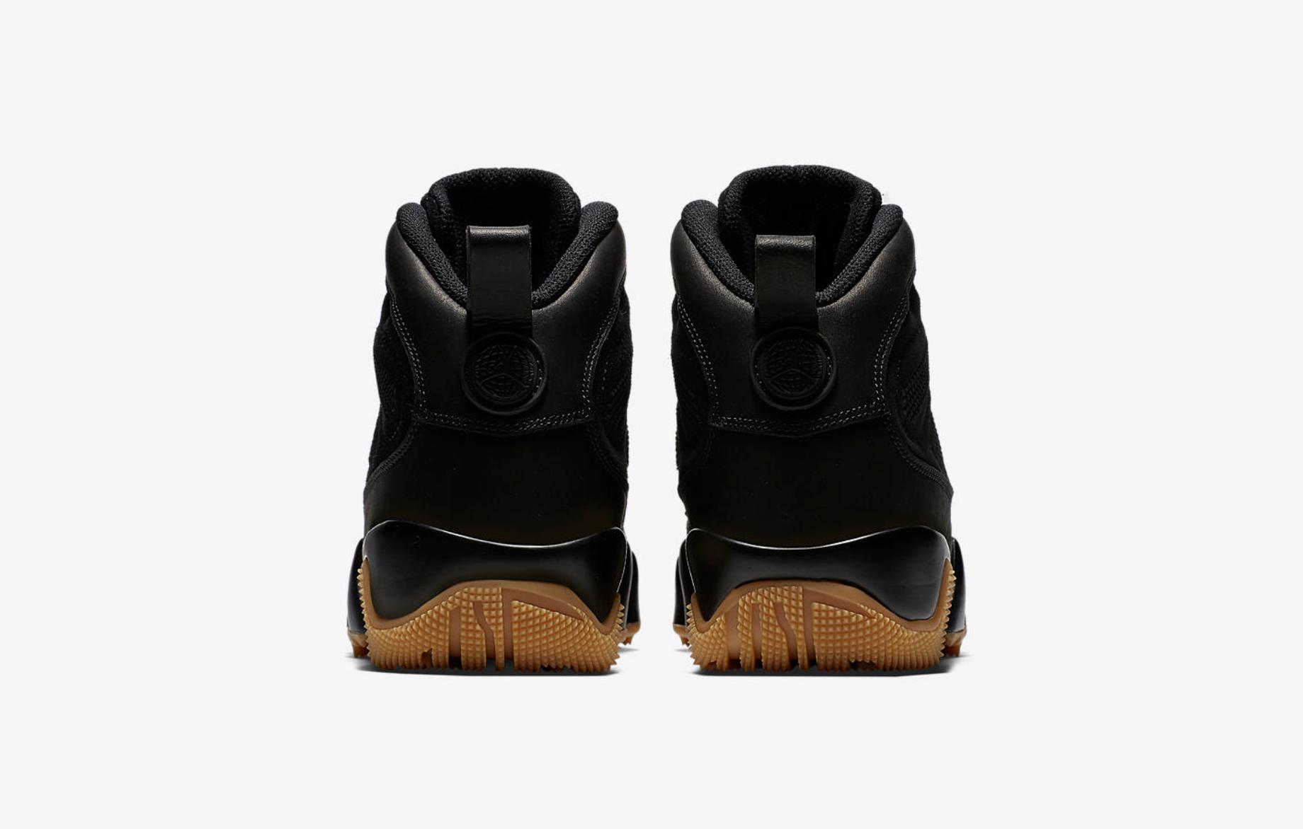 The Air Jordan 9 Boot NRG in Black/Gum