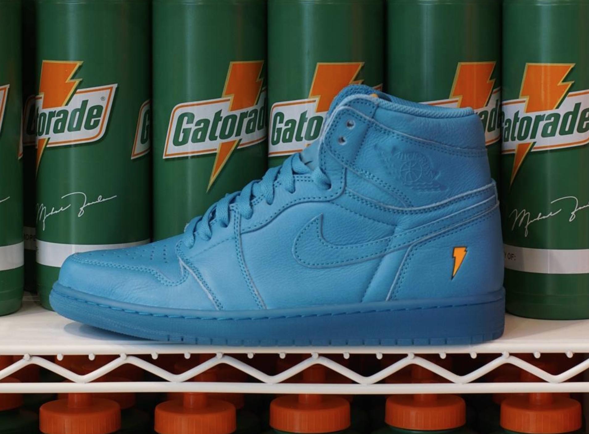 gatorade air jordan 1 like mike blue