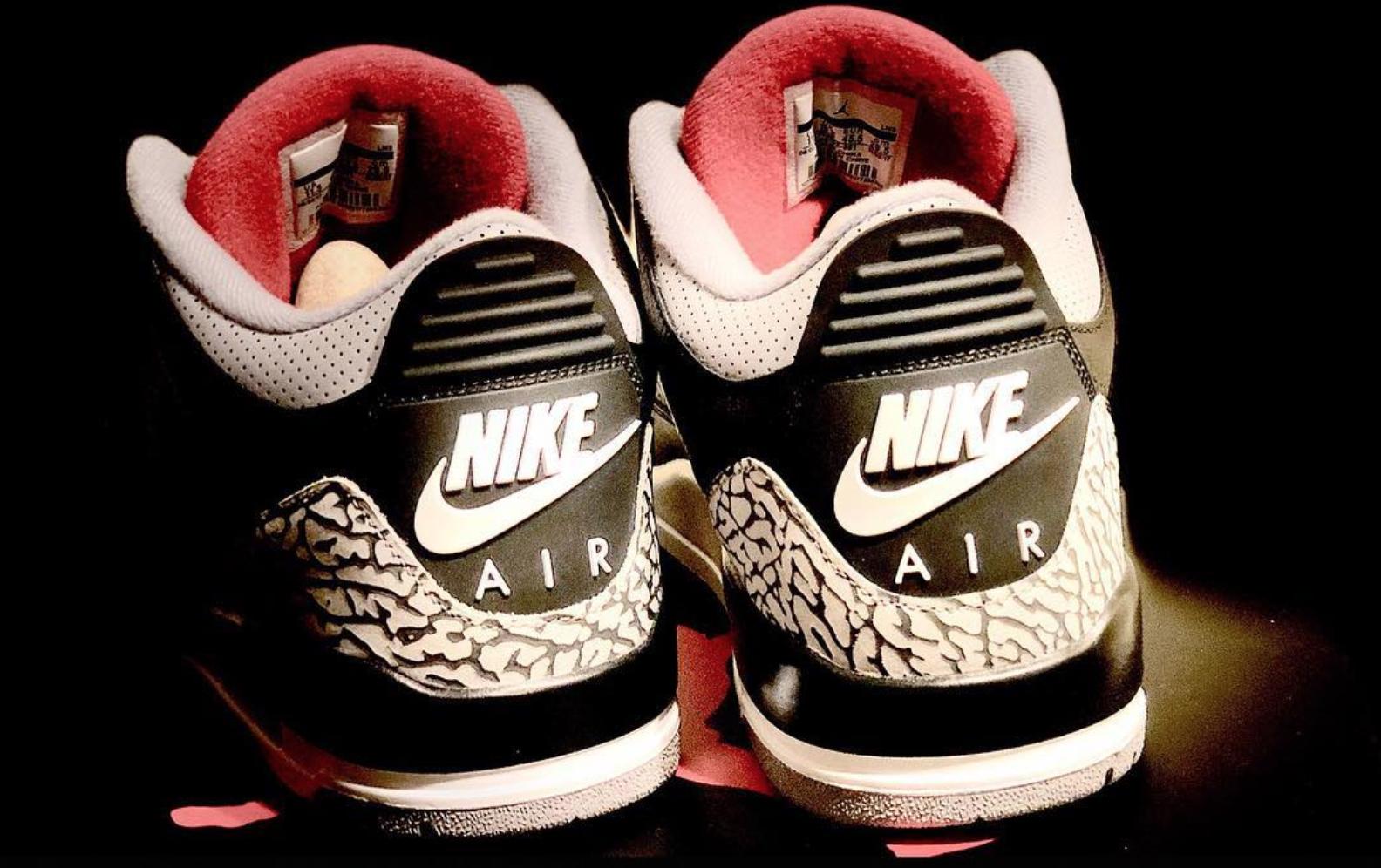 2018 Air Jordan 3 Black Cement 4