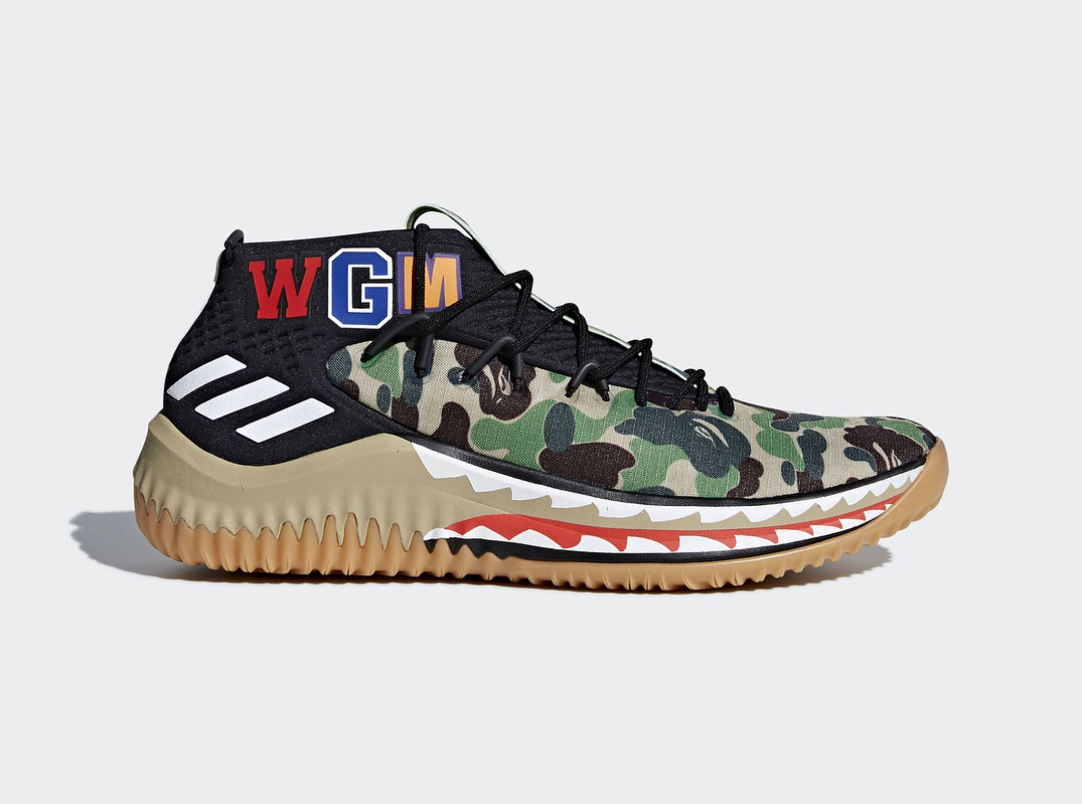 adidas dame 4 BAPE official 1