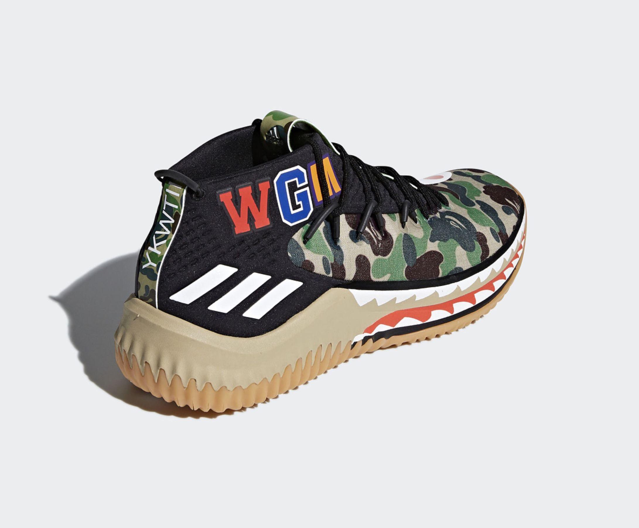 adidas dame 4 BAPE official 8