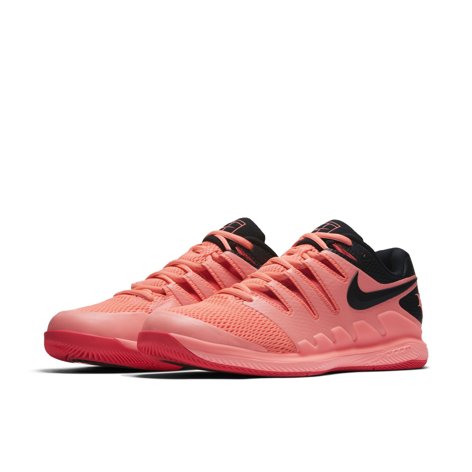 roger federer nike air zoom vapor x solar red 1