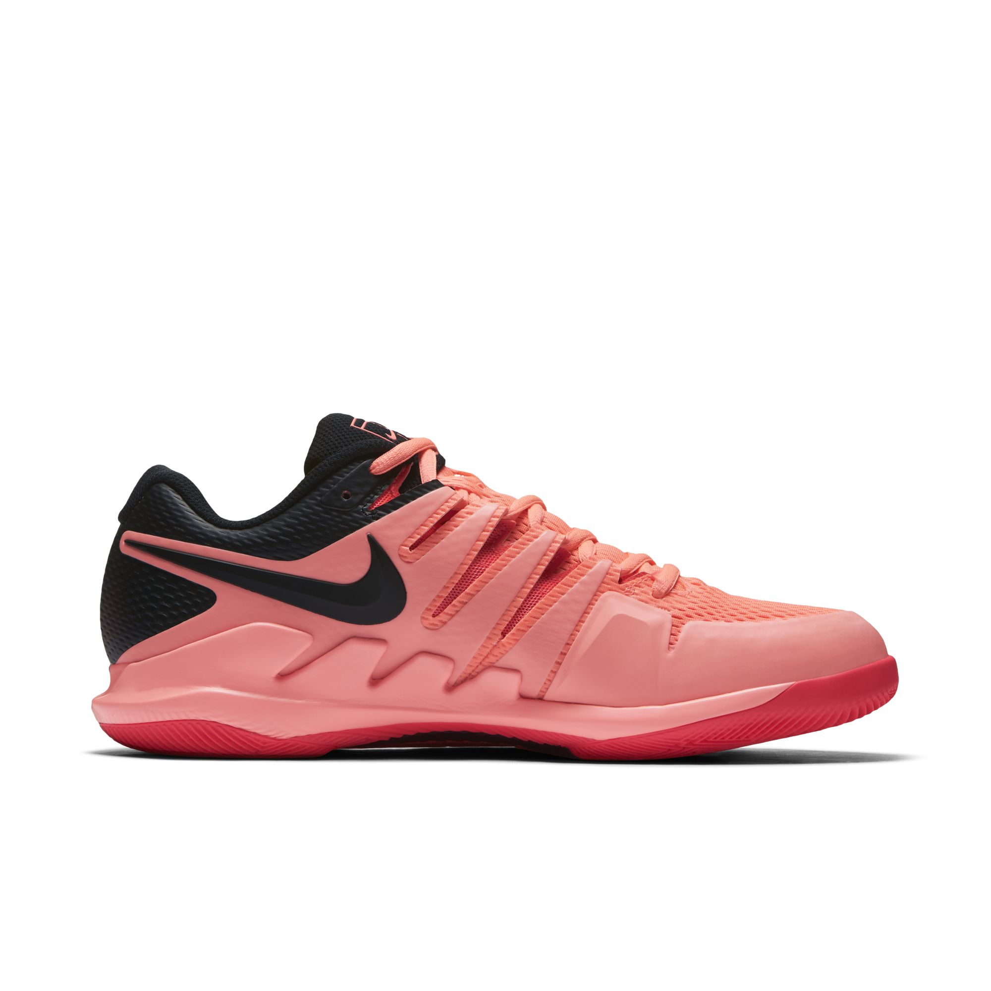 roger federer nike air zoom vapor x solar red 3