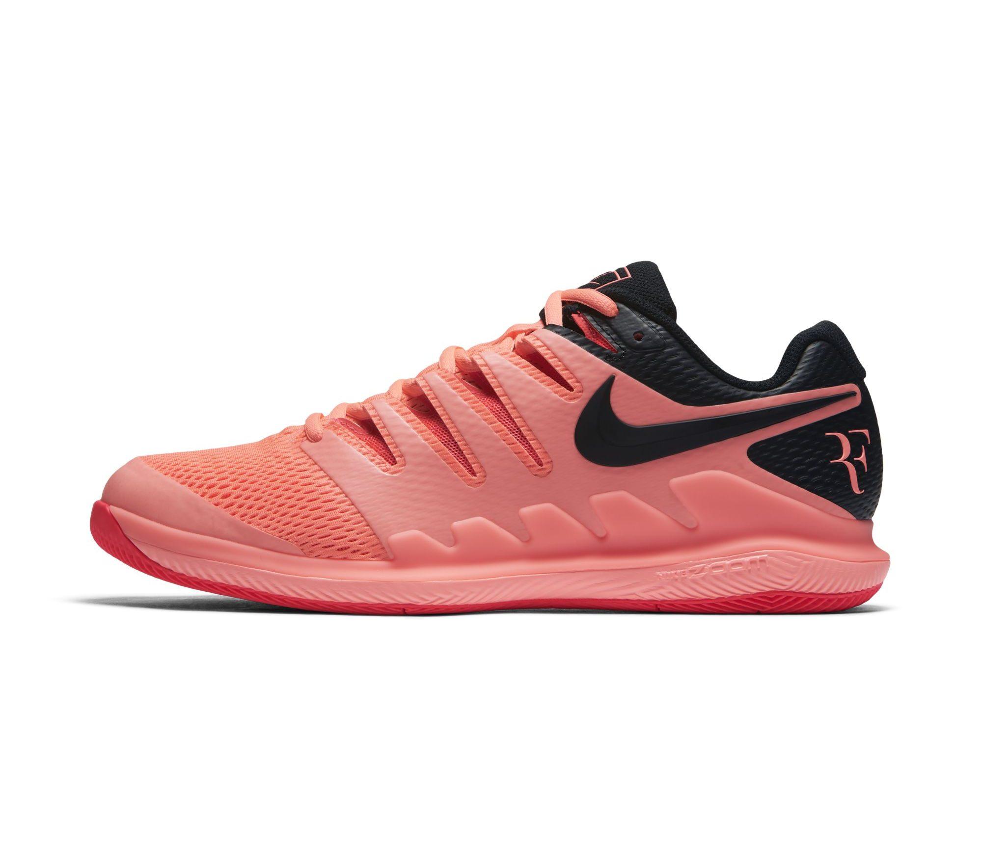 Nike Zoom Vapor 9.5 Tour 'Hot Lava' Brightens Federer's