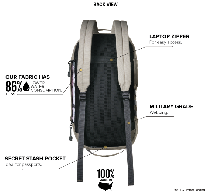 8HZ backpack saber back