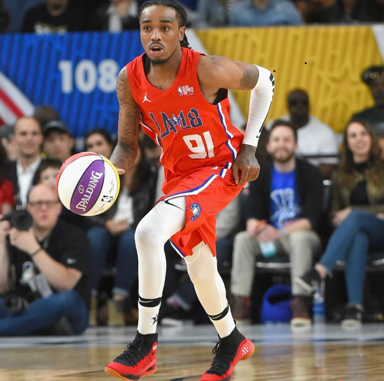 Quavo Win Celebrity Game With Custom Made Curry's and LeBron's1