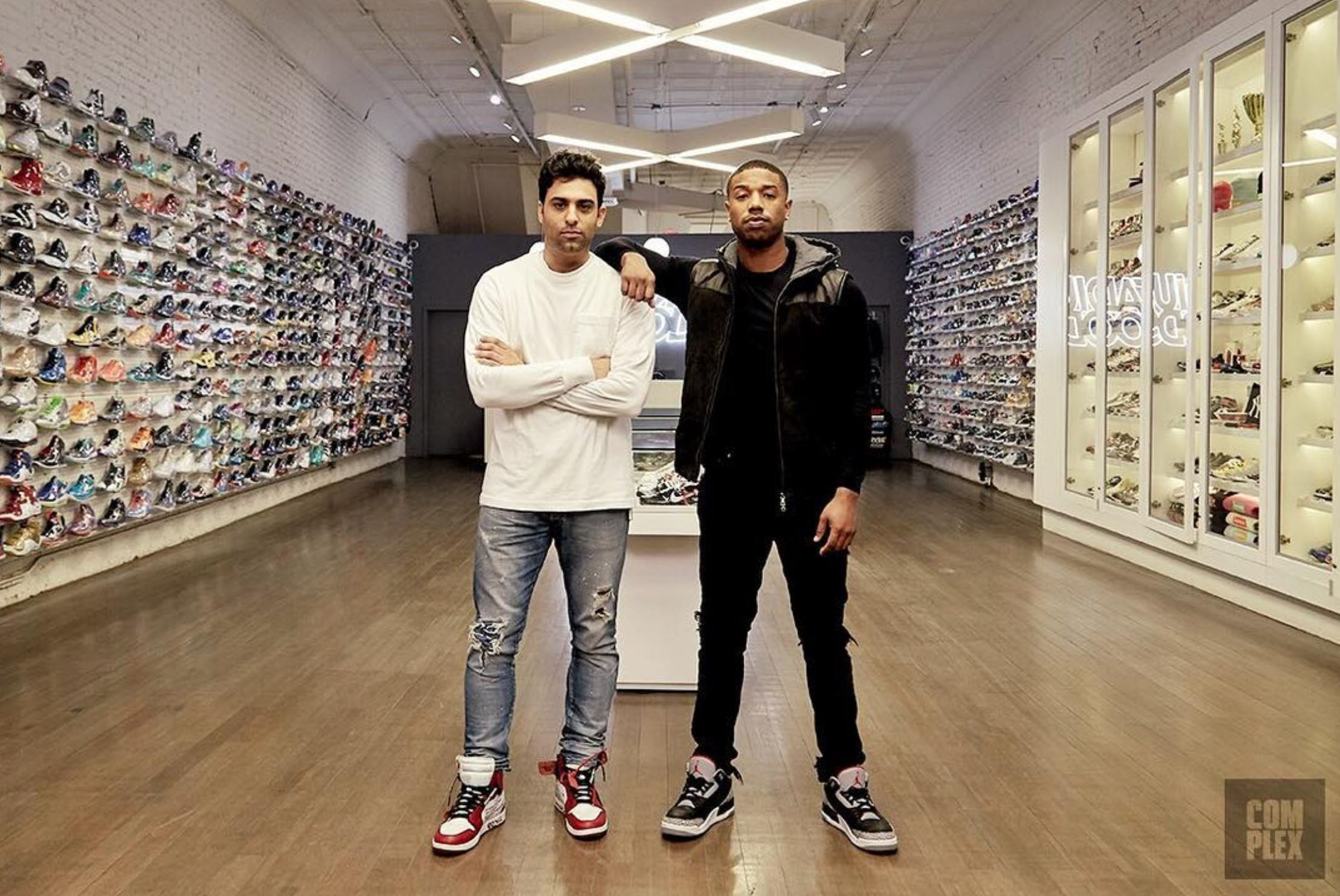michael b jordan sneaker shopping