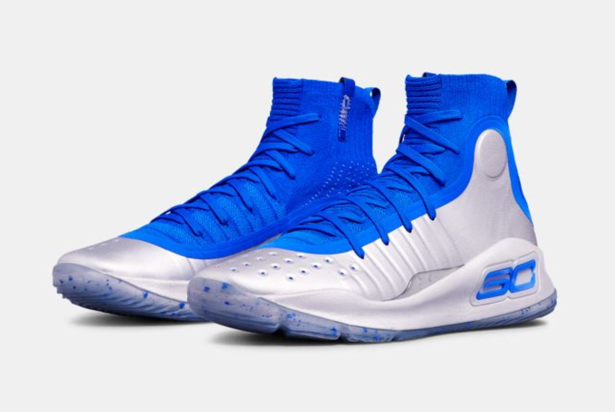 under armour curry 4 royal metallic silver 4