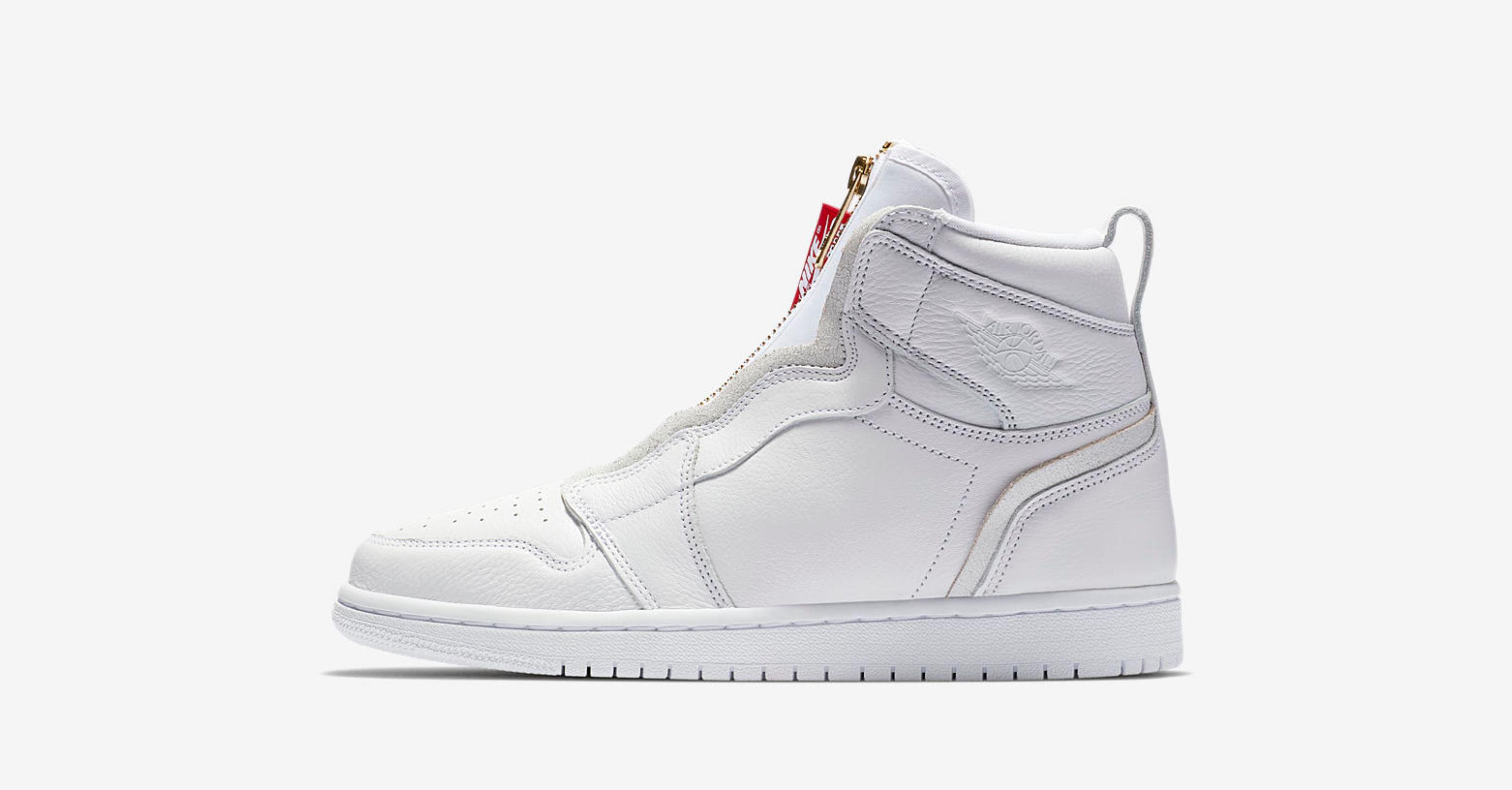 womens air jordan 1 high zip white