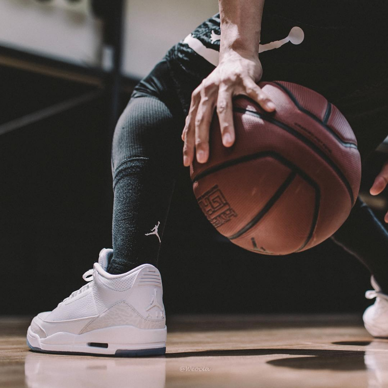 Air-Jordan-3-Pure-White-On-Foot-2