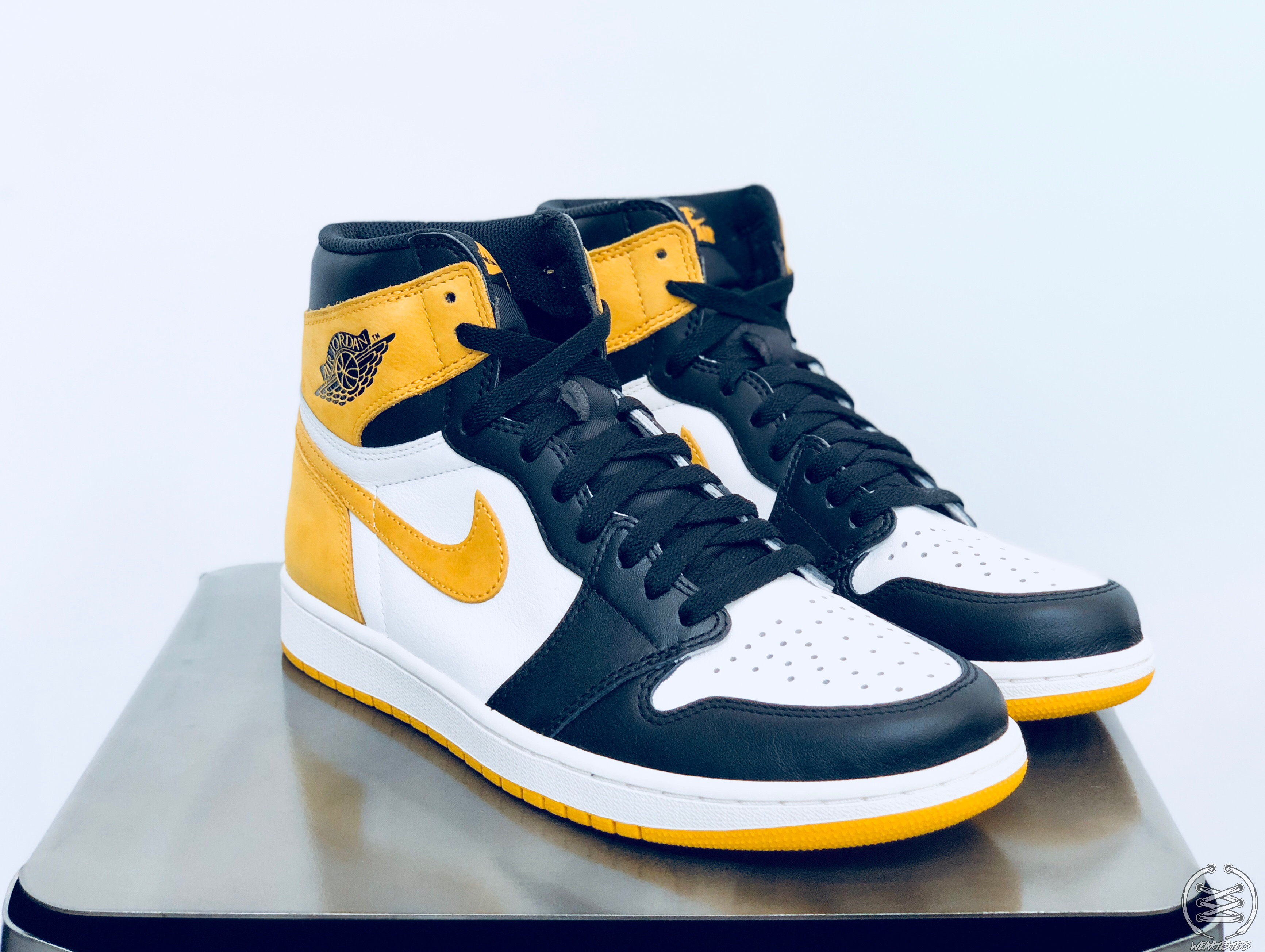 free shipping best wholesaler various styles Air Jordan 1 Yellow Ochre Best Hand in the Game collection 4 ...