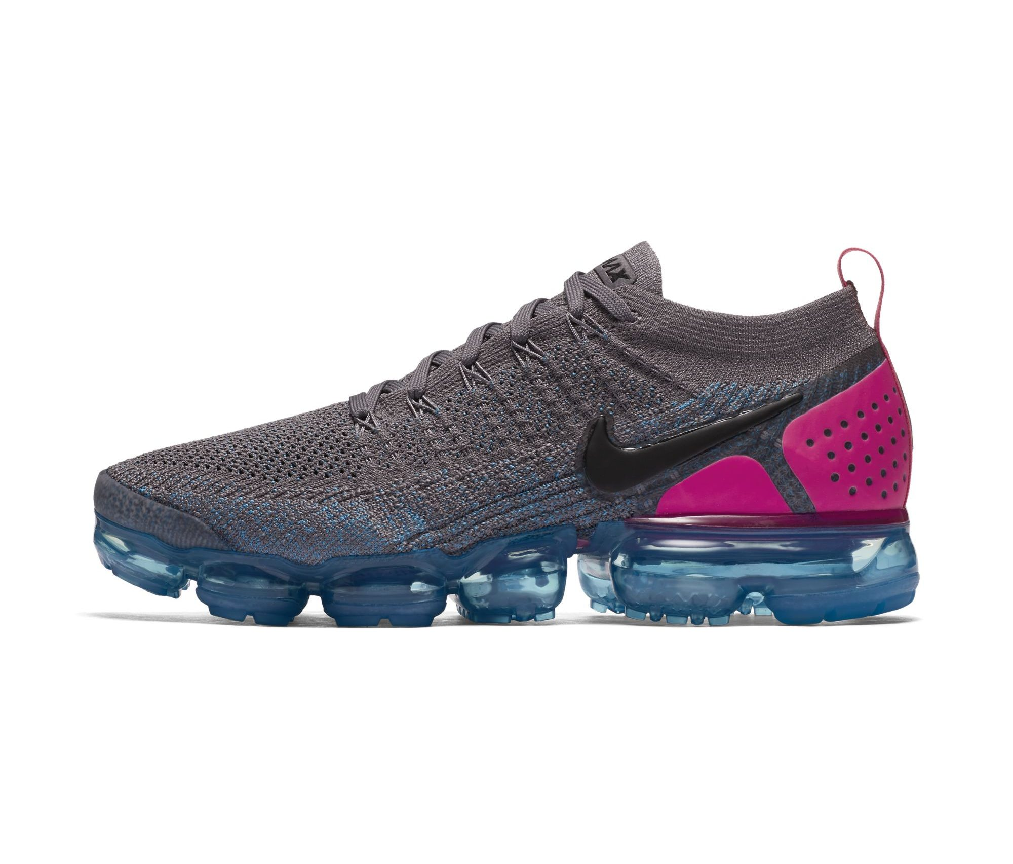 NIKE AIR VAPORMAX FLYKNIT 2 GUNSMOKE:BLACK-BLUE ORBIT-PINK BLAST-BLUE FURY-GLACIER BLUE 3