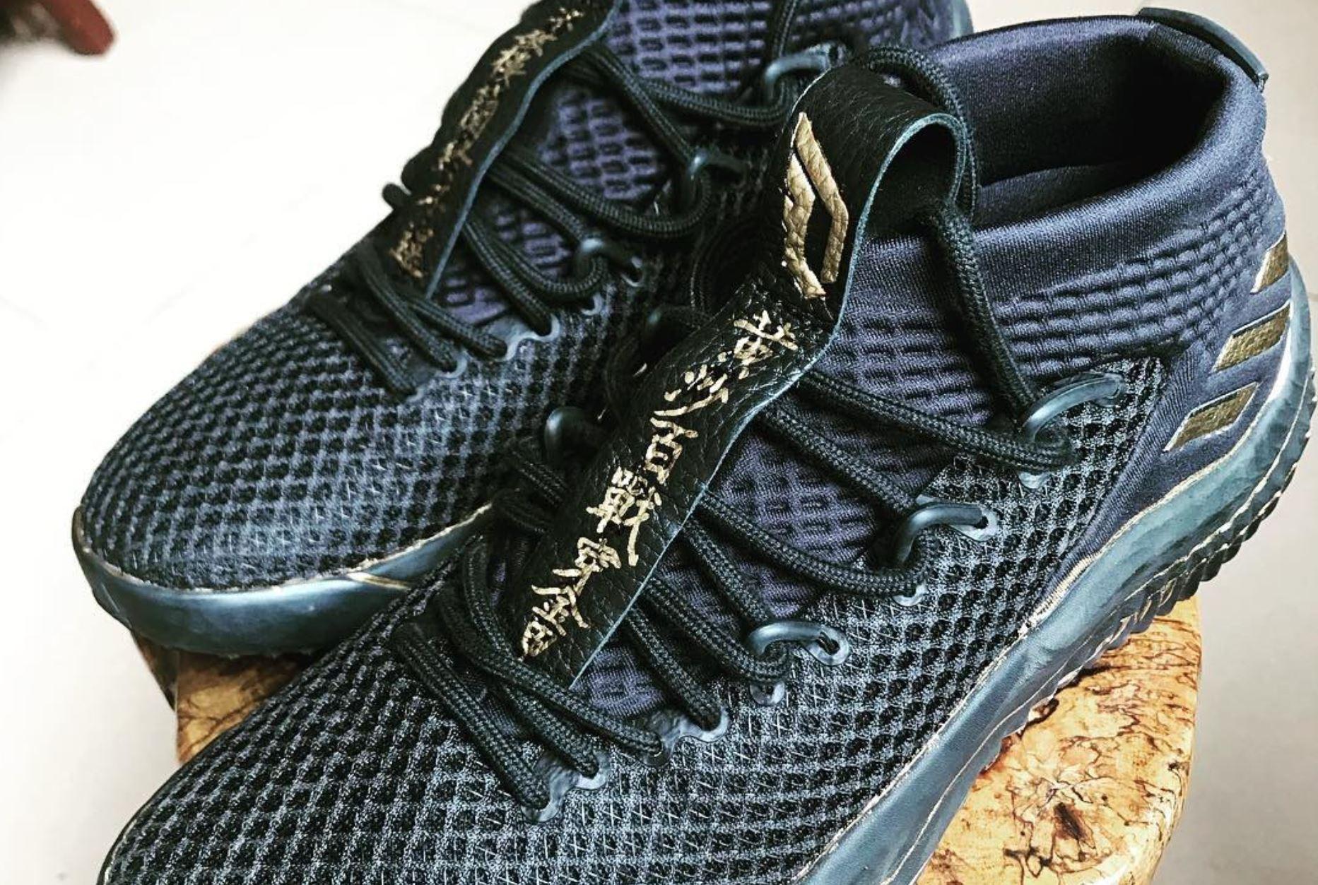 adidas dame 4 gold black