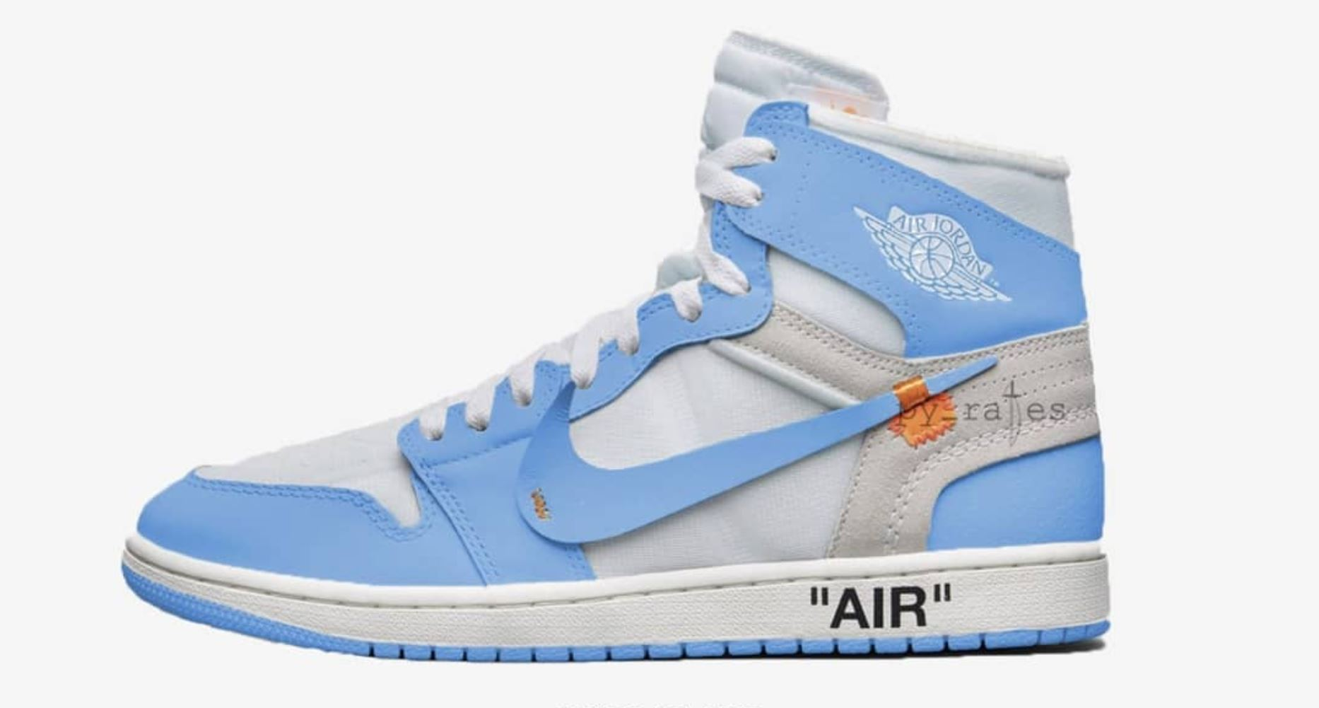 off white air jordan 1 unc release date