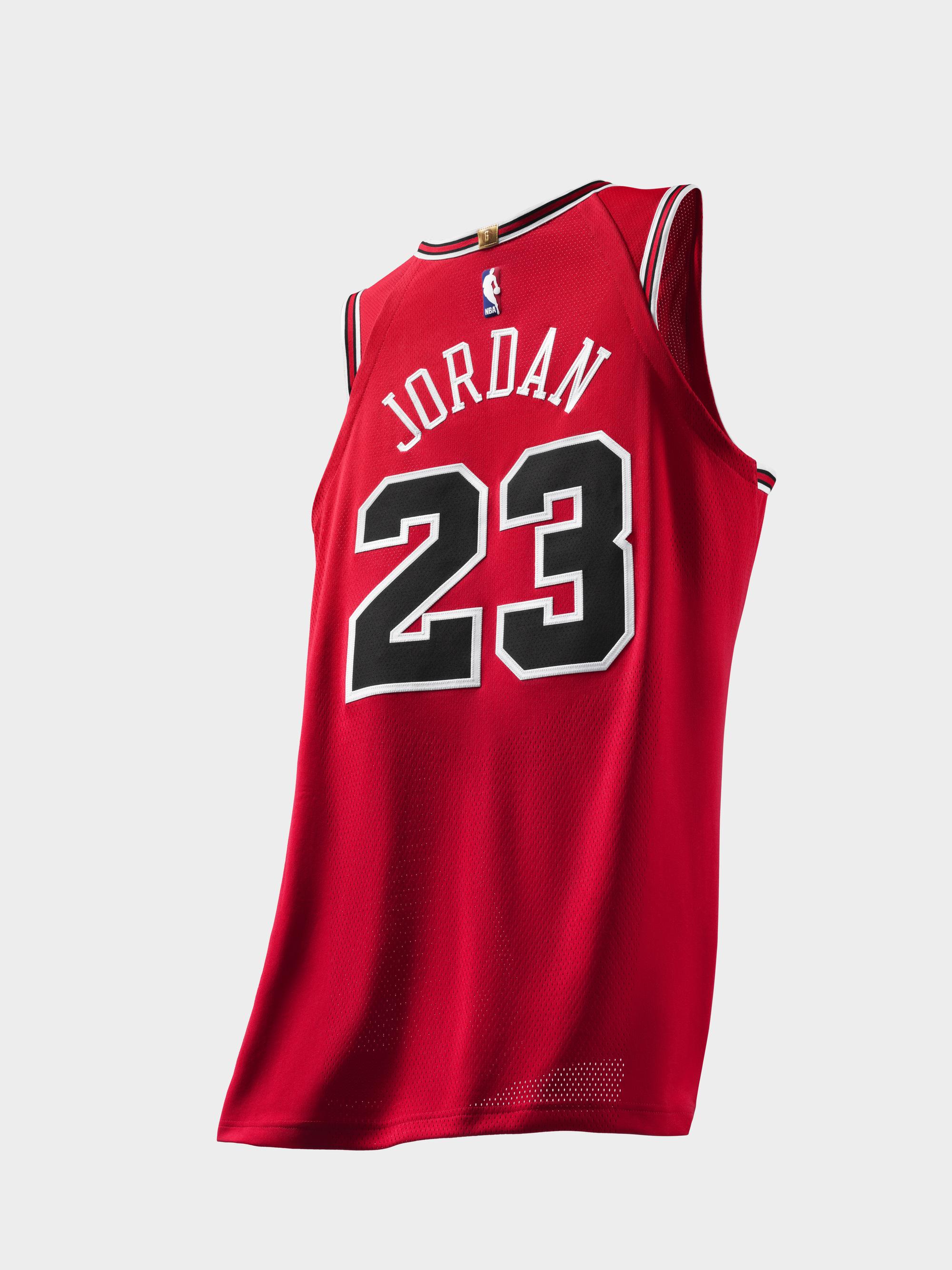 Michael Jordan authentic jersey last shot 3