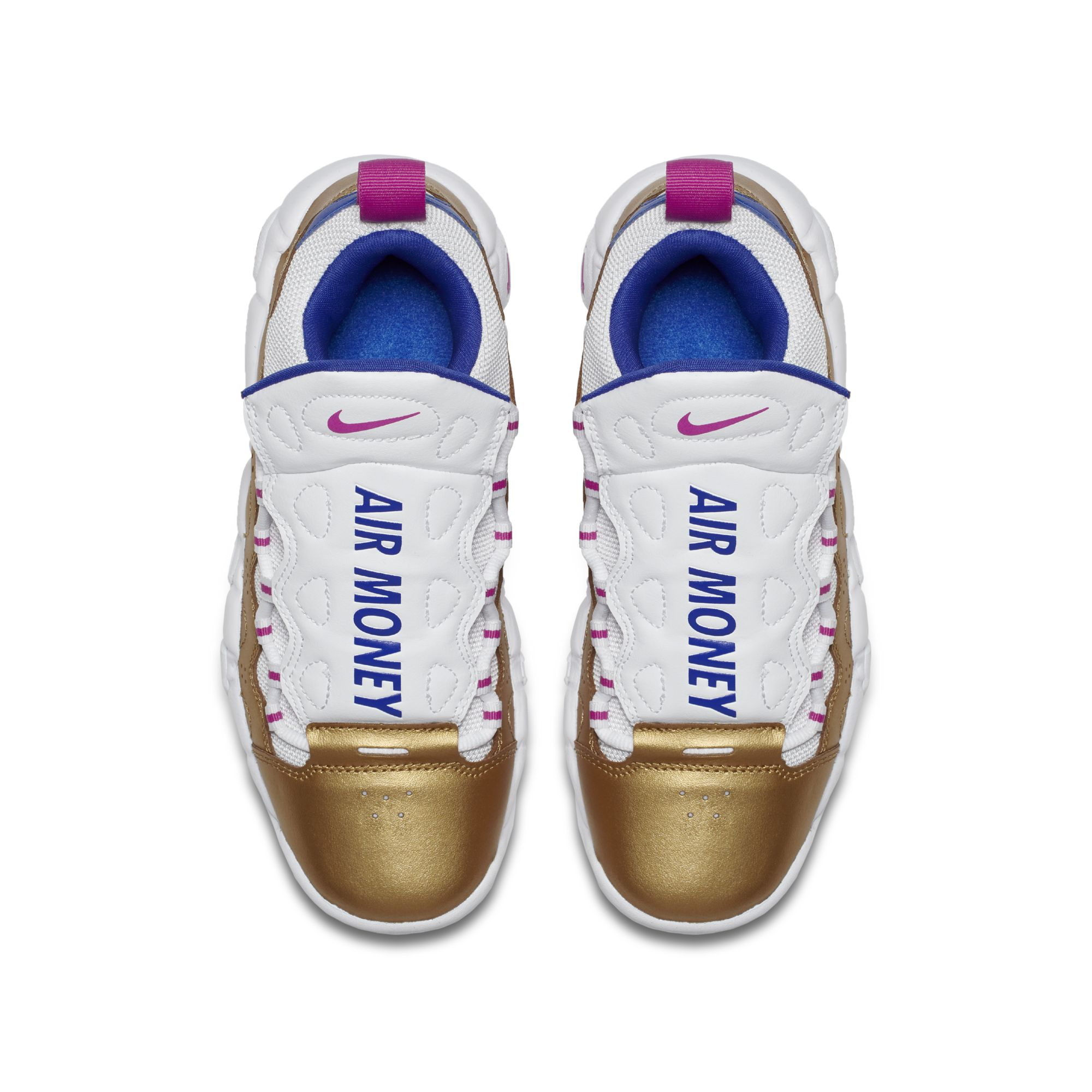 NIKE AIR MORE MONEY WHITE:FUSCHIA:GOLD 2