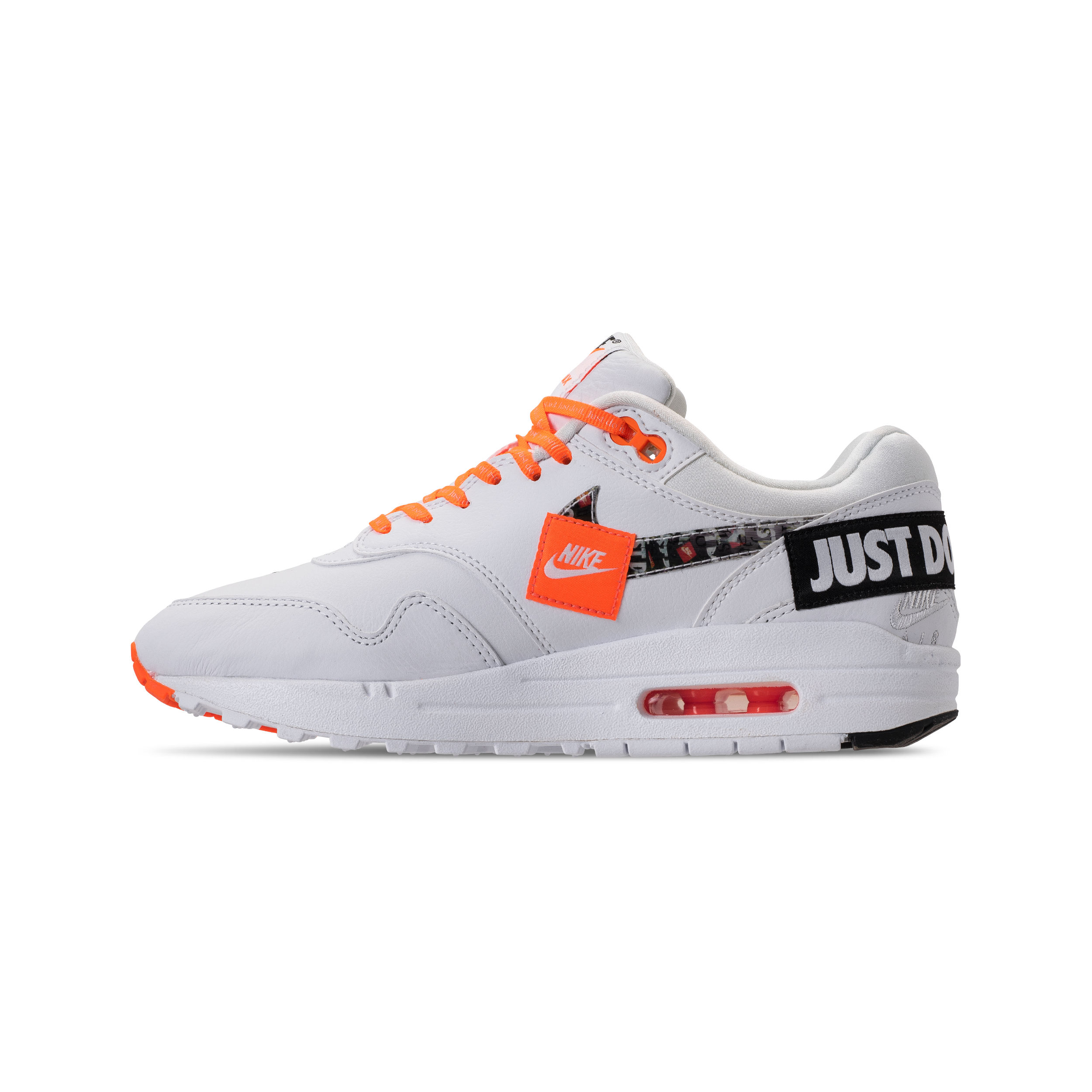air max 1 white black total orange jdi