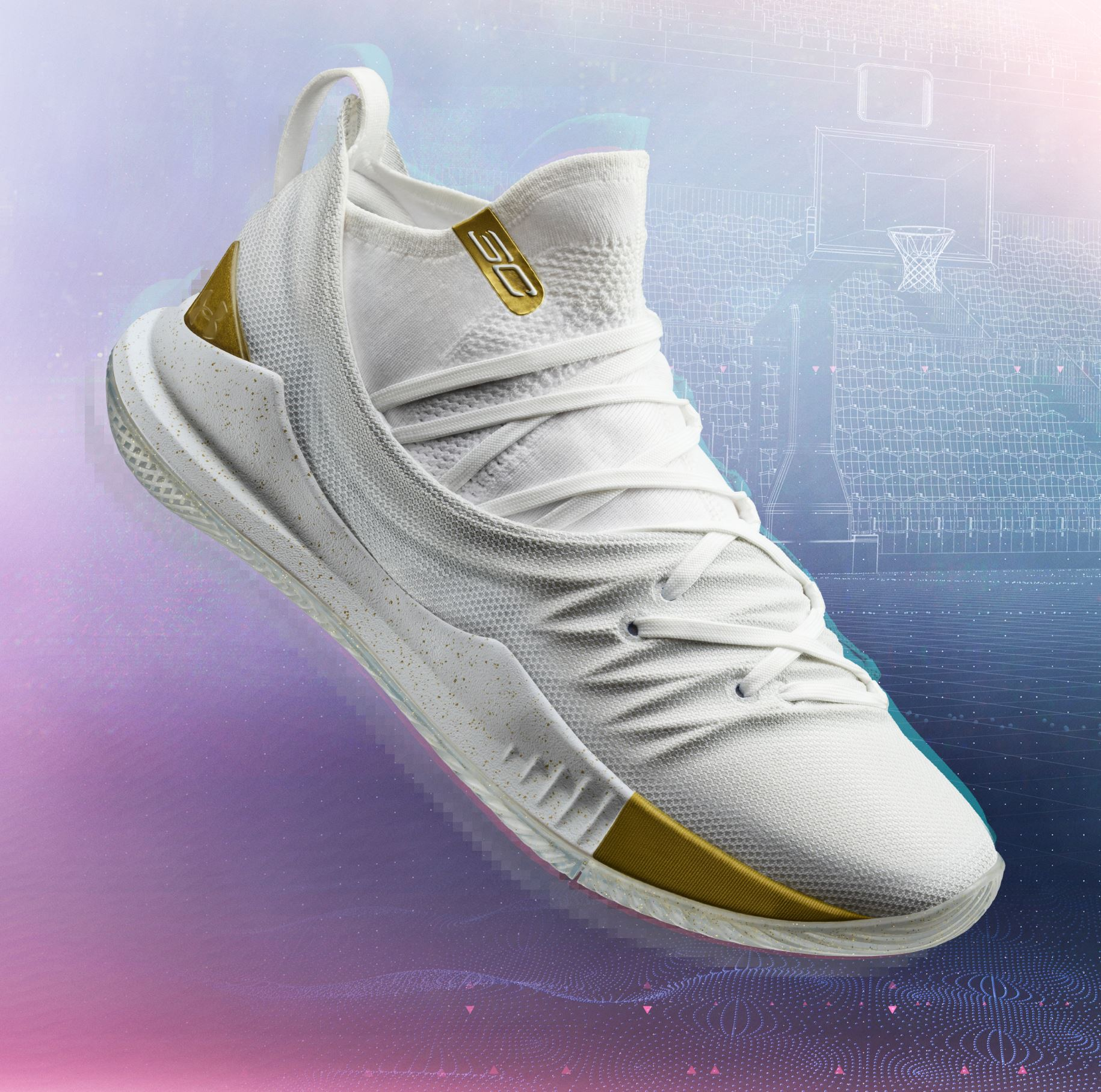curry 5 white gold toe