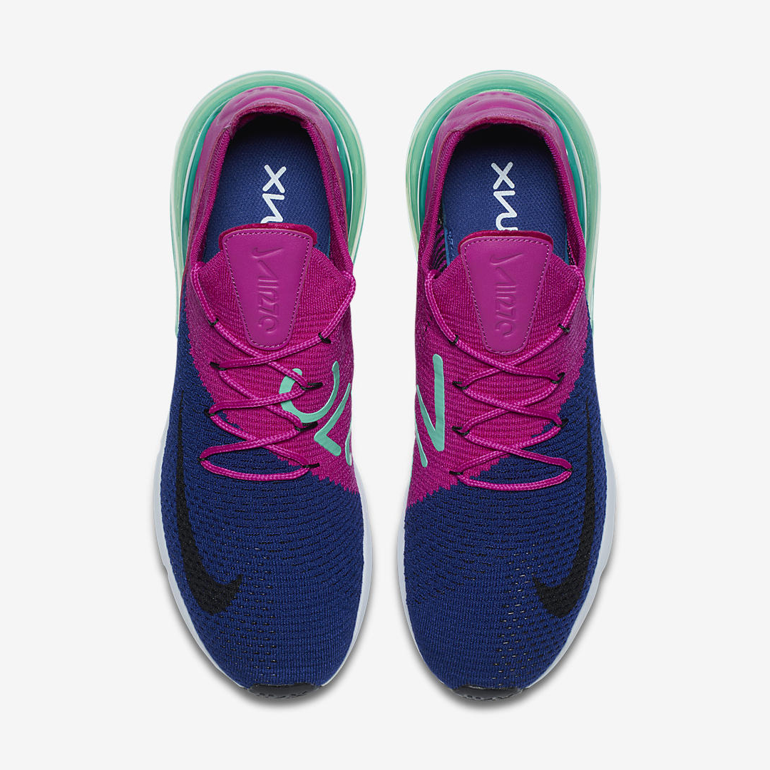 nike air max 270 flyknit pink blue 1
