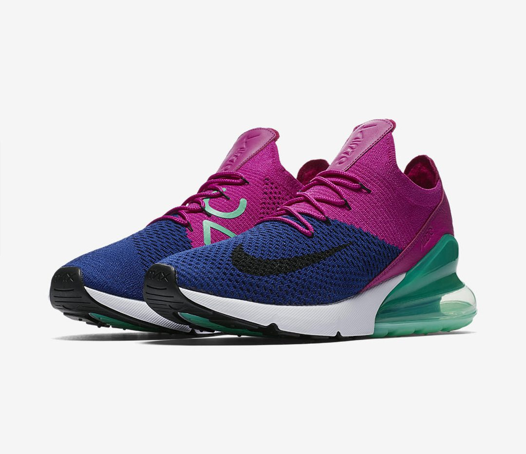nike air max 270 flyknit pink blue