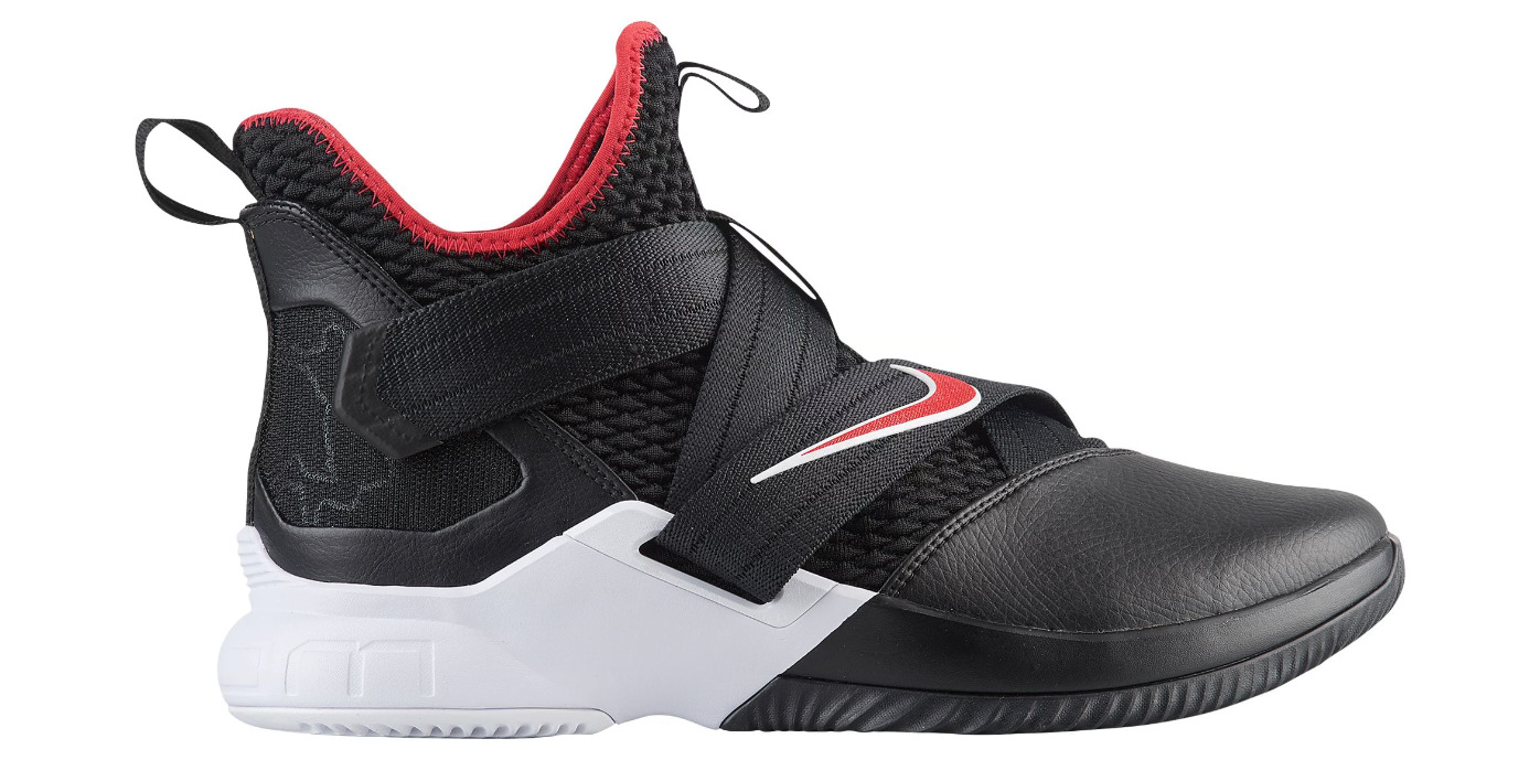 nike lebron soldier 12 black red