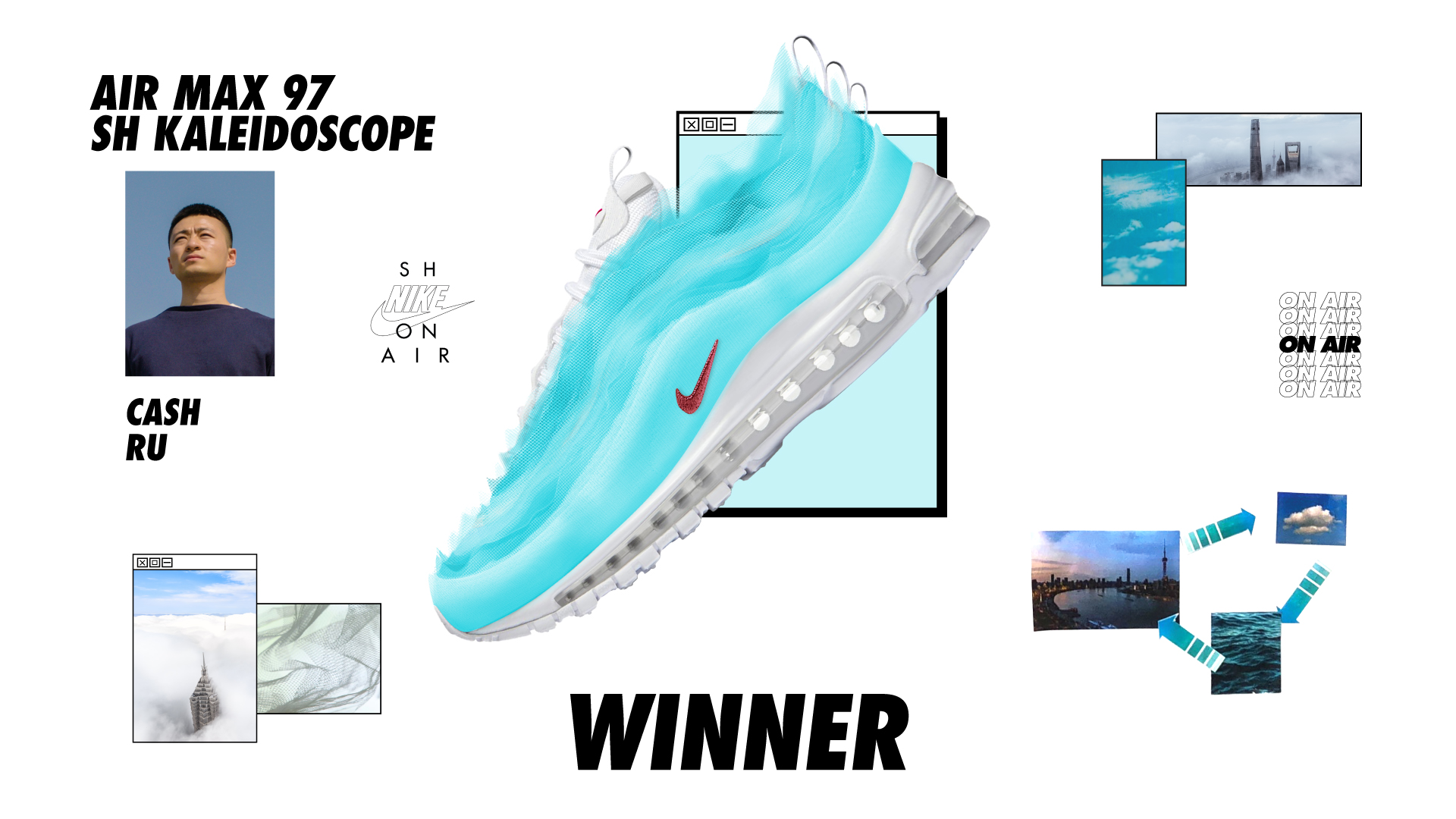 nike on air winners air max 97 sh kaleidoscope cash ru