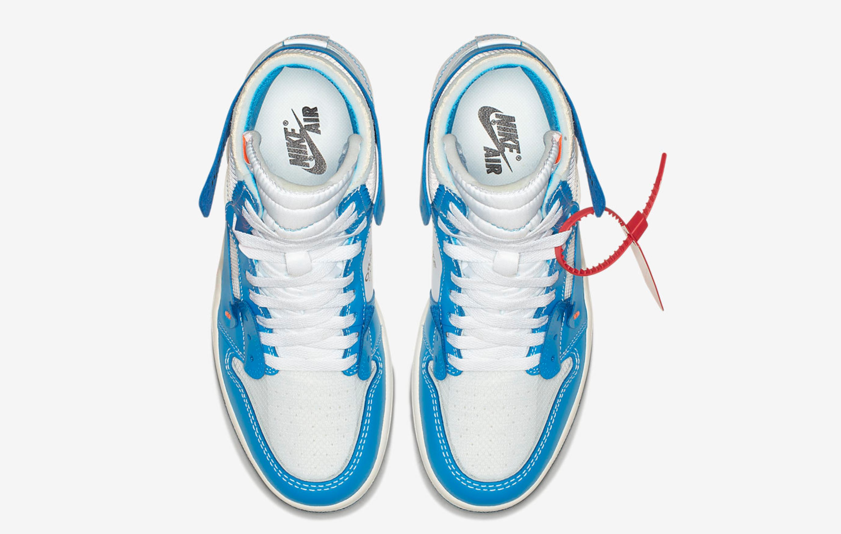 off white air jordan 1 unc release 3