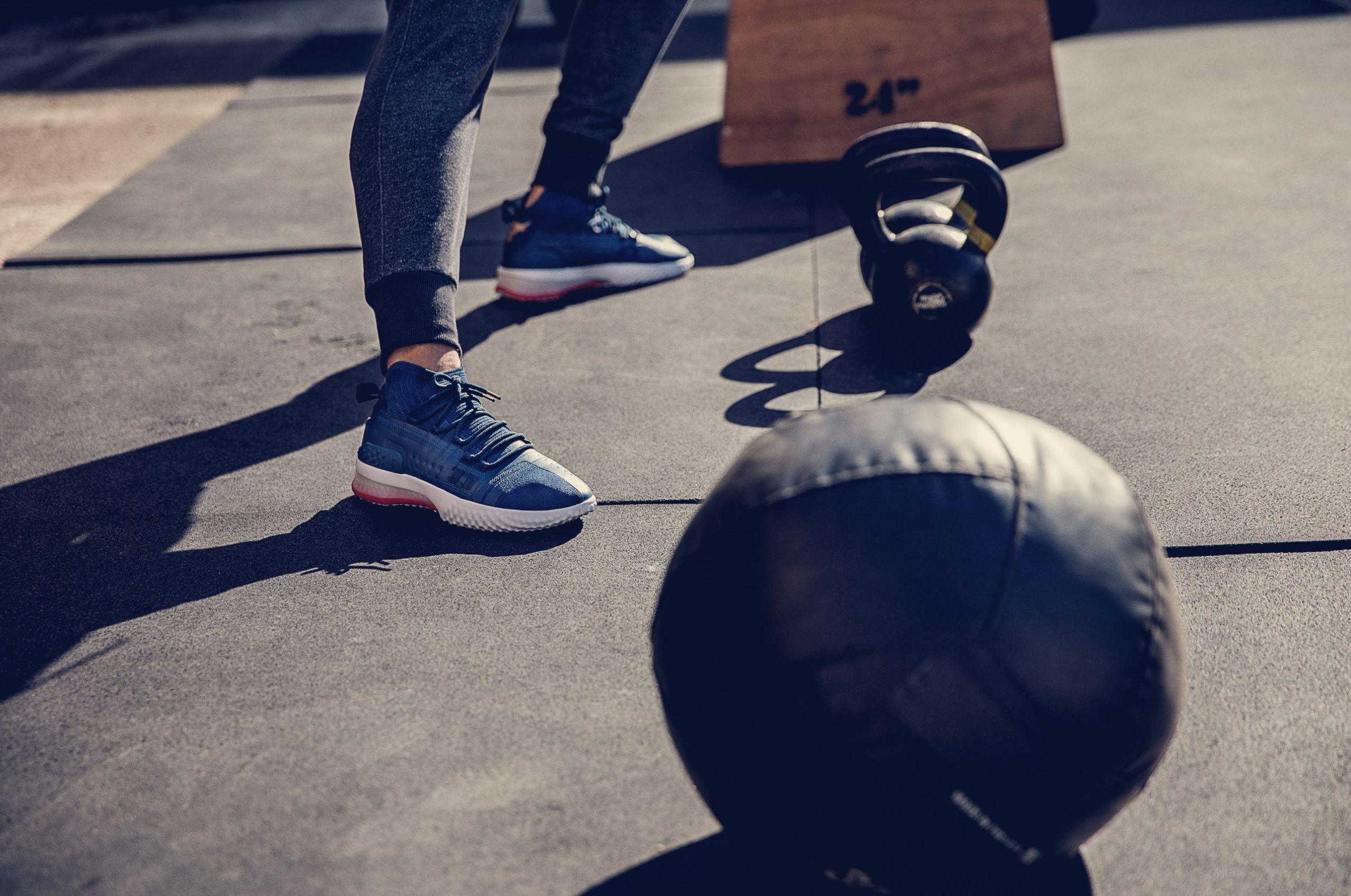 the rock sneaker project rock 1 on foot