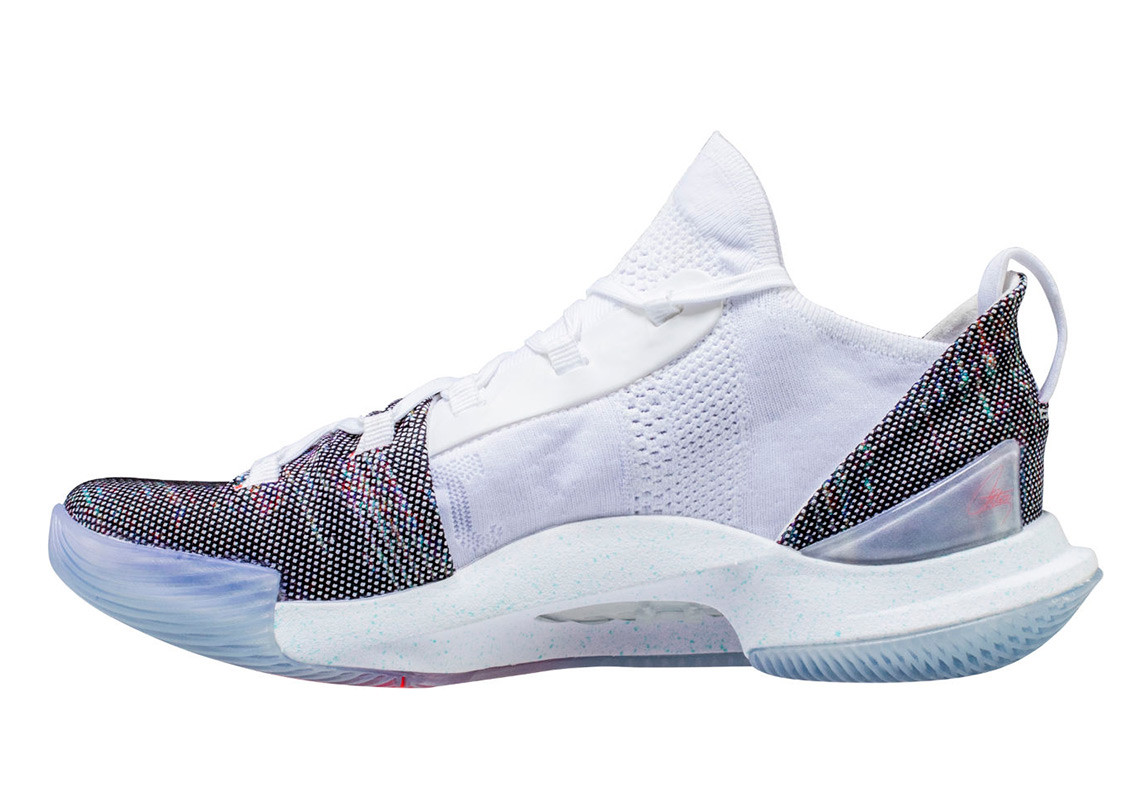 under armour curry 5 neon coral 1