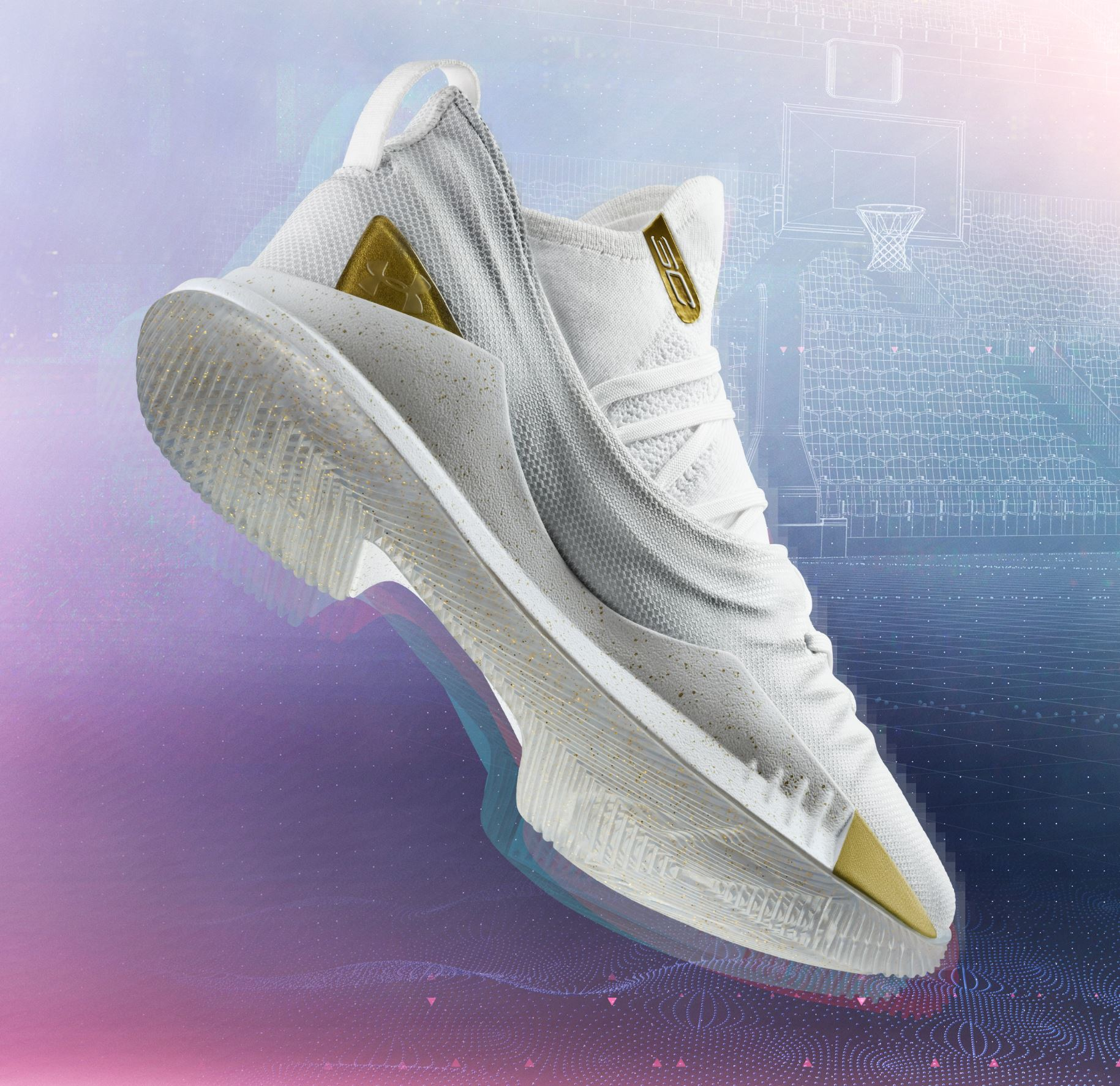 under armour curry 5 white gold 1
