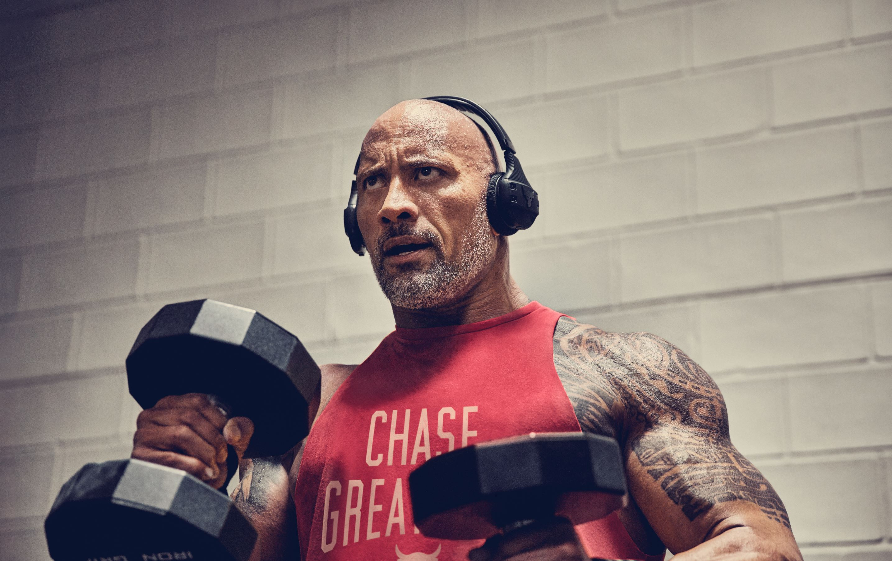 JBL UA Sport Wireless train Headphones project rock dwayne johnson