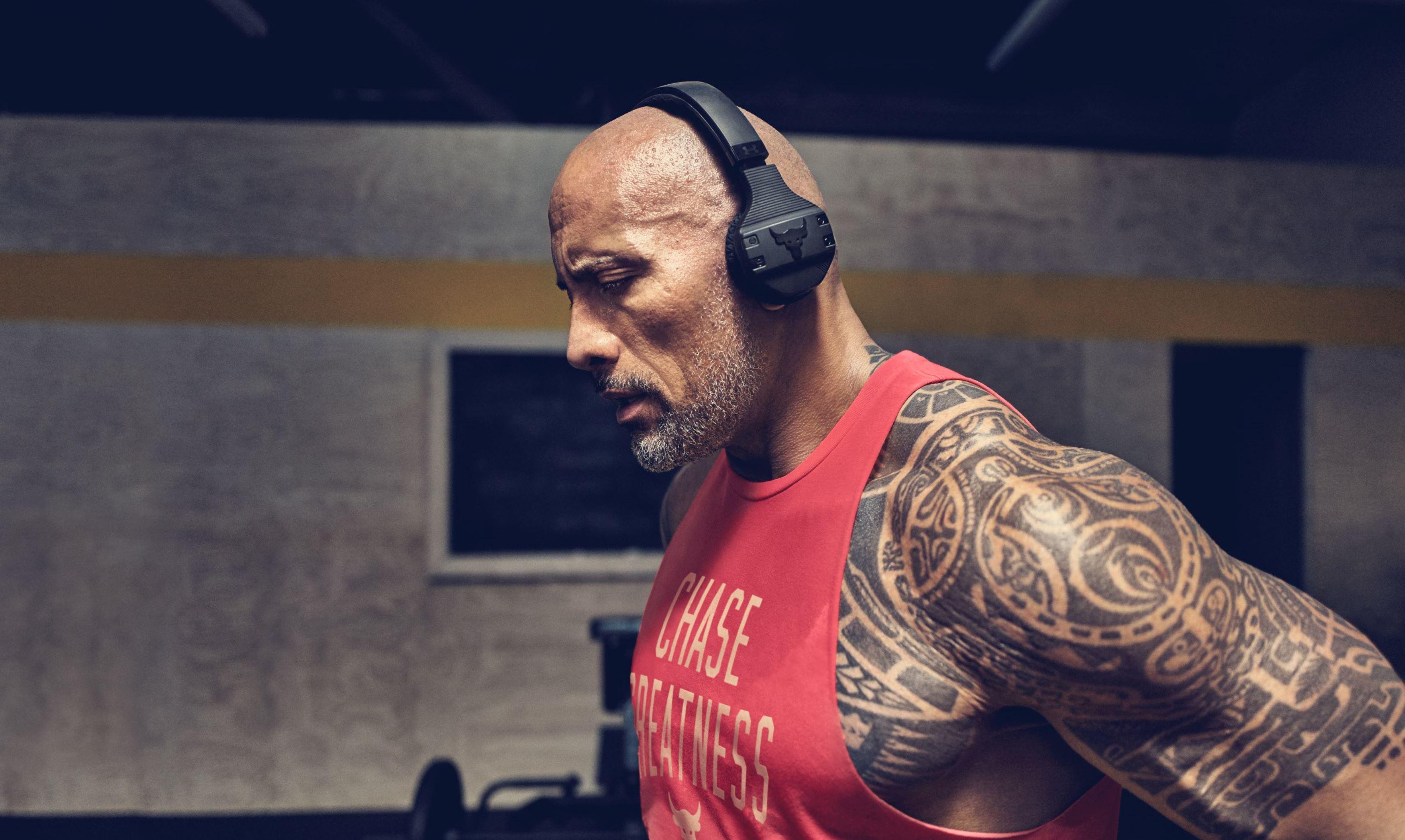 JBL UA Sport Wireless train Headphones project rock dwayne johnson