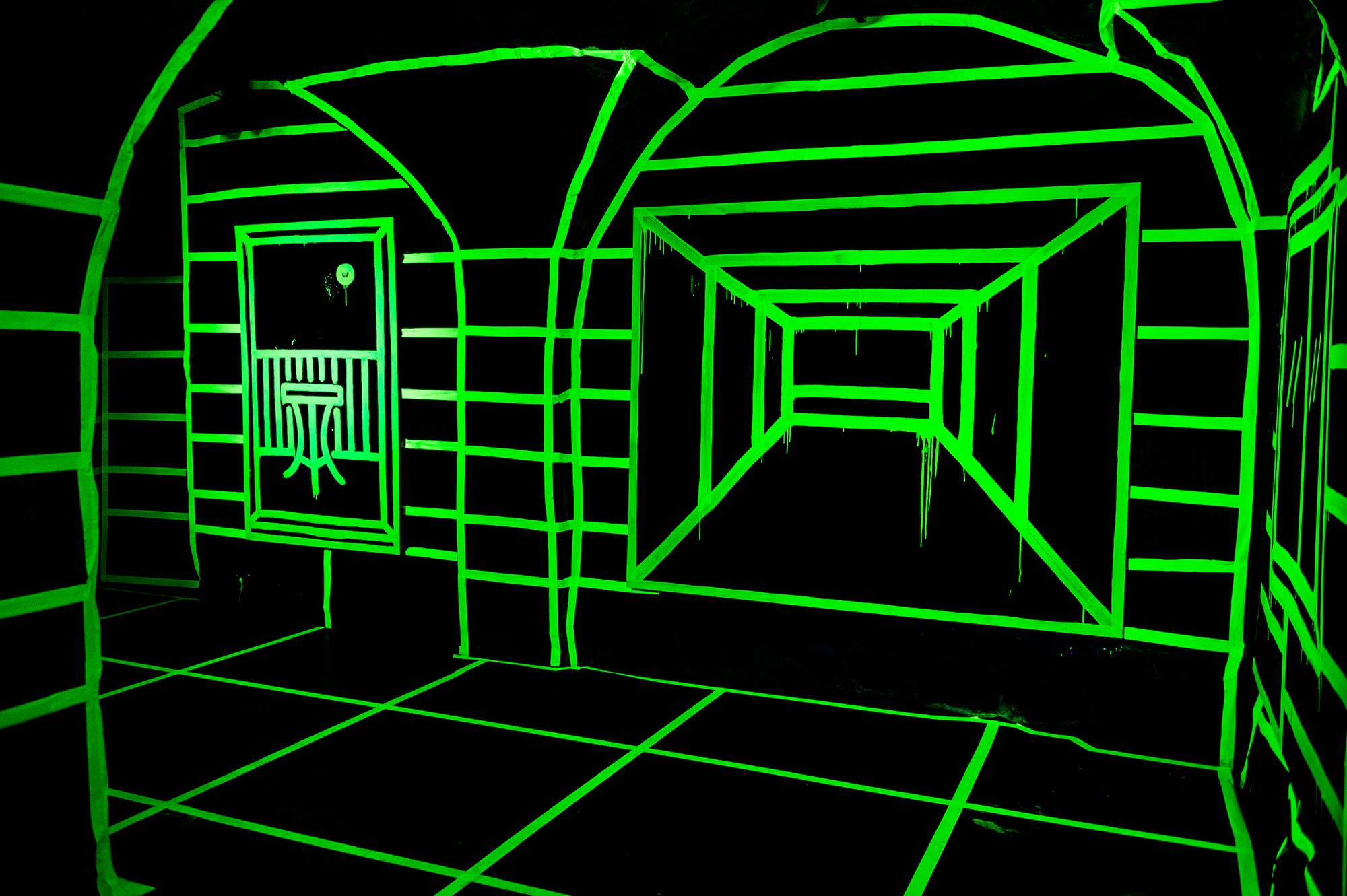 Joshua Vides glow in the dark exhibit 1