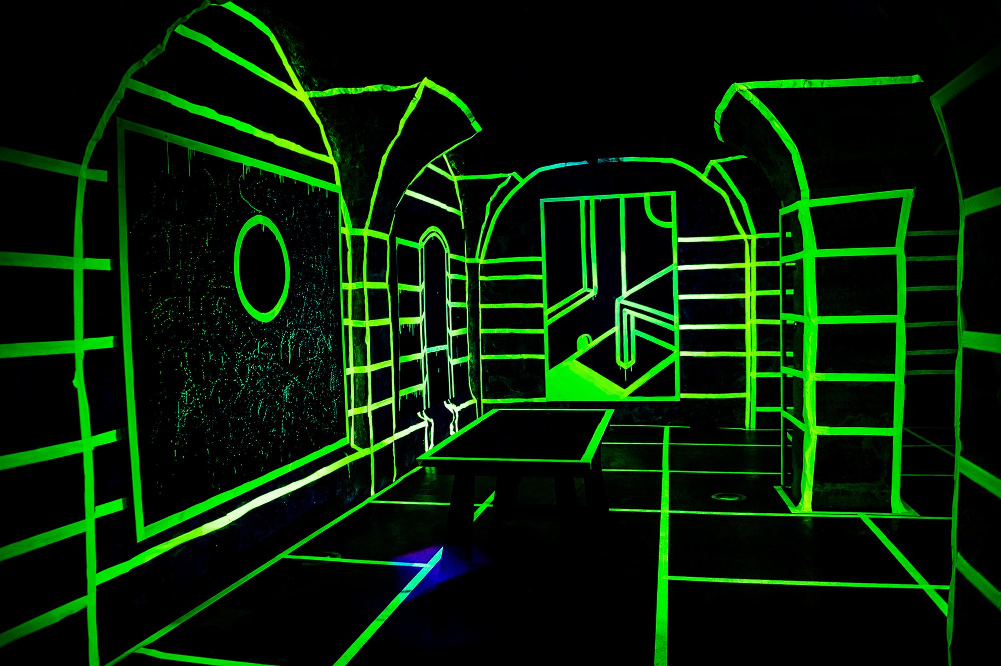 Joshua Vides glow in the dark exhibit 2