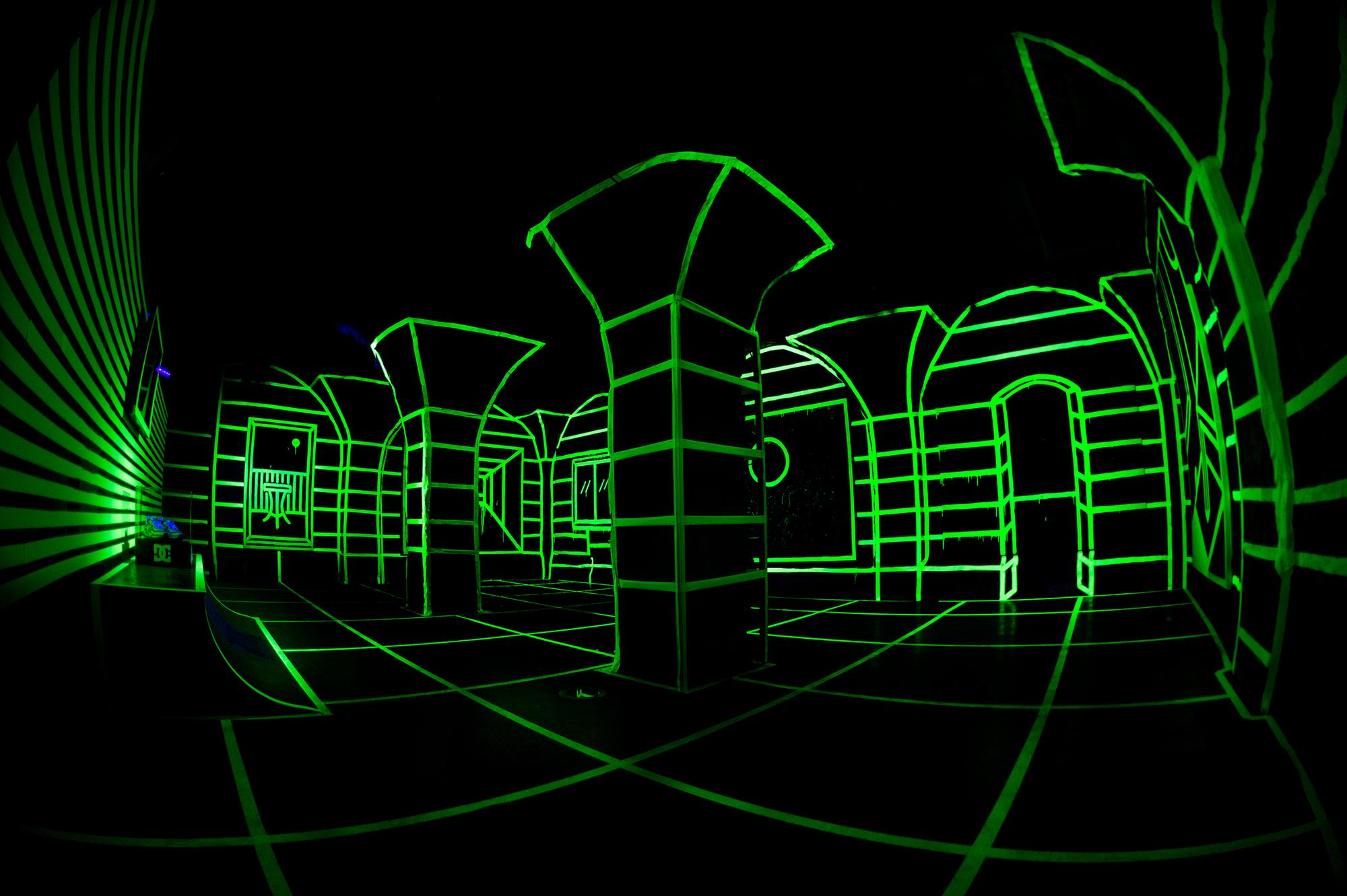 Joshua Vides glow in the dark exhibit 3