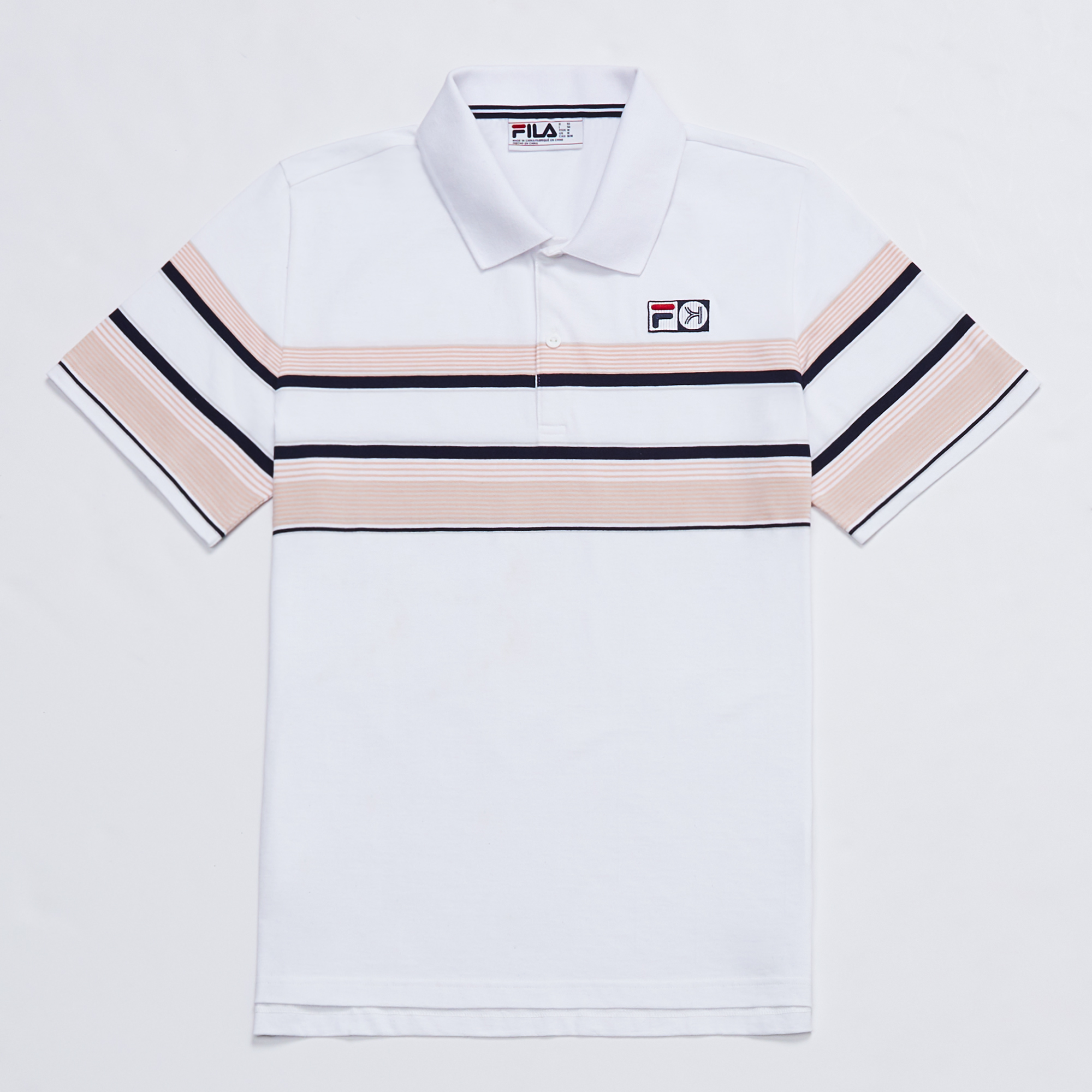 Kinfolk Fila polo white