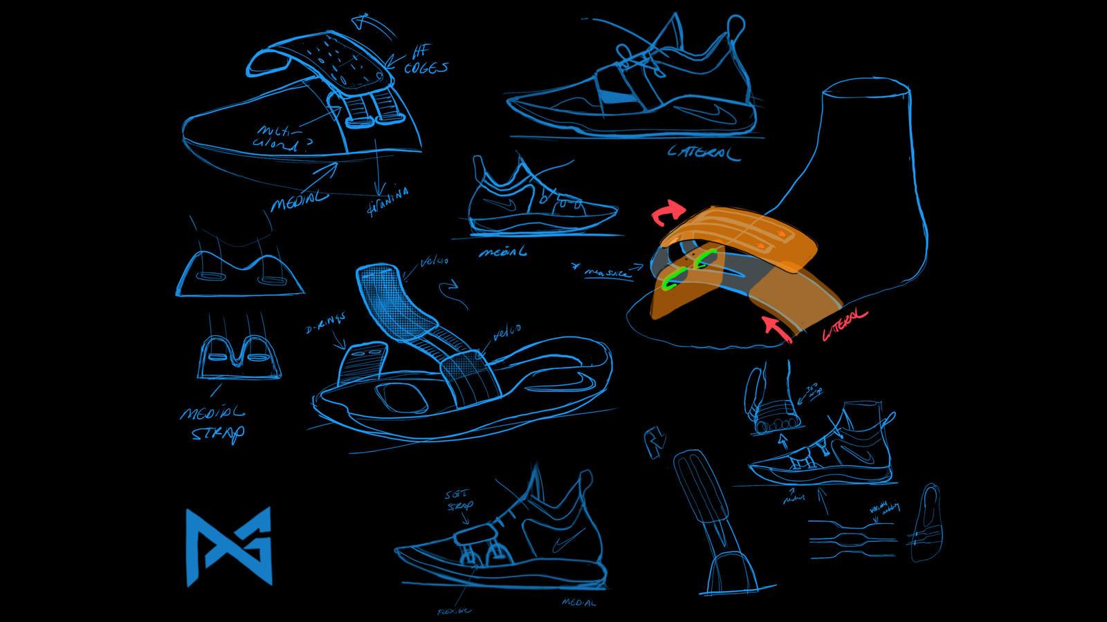 Nike PG 2.5 sketch