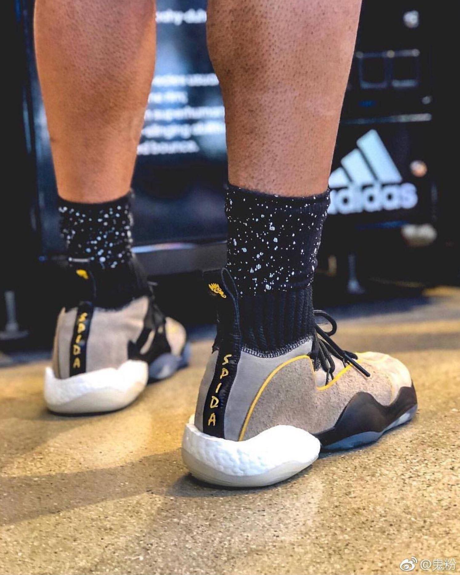 adidas BYW X donovan mitchell PE on foot