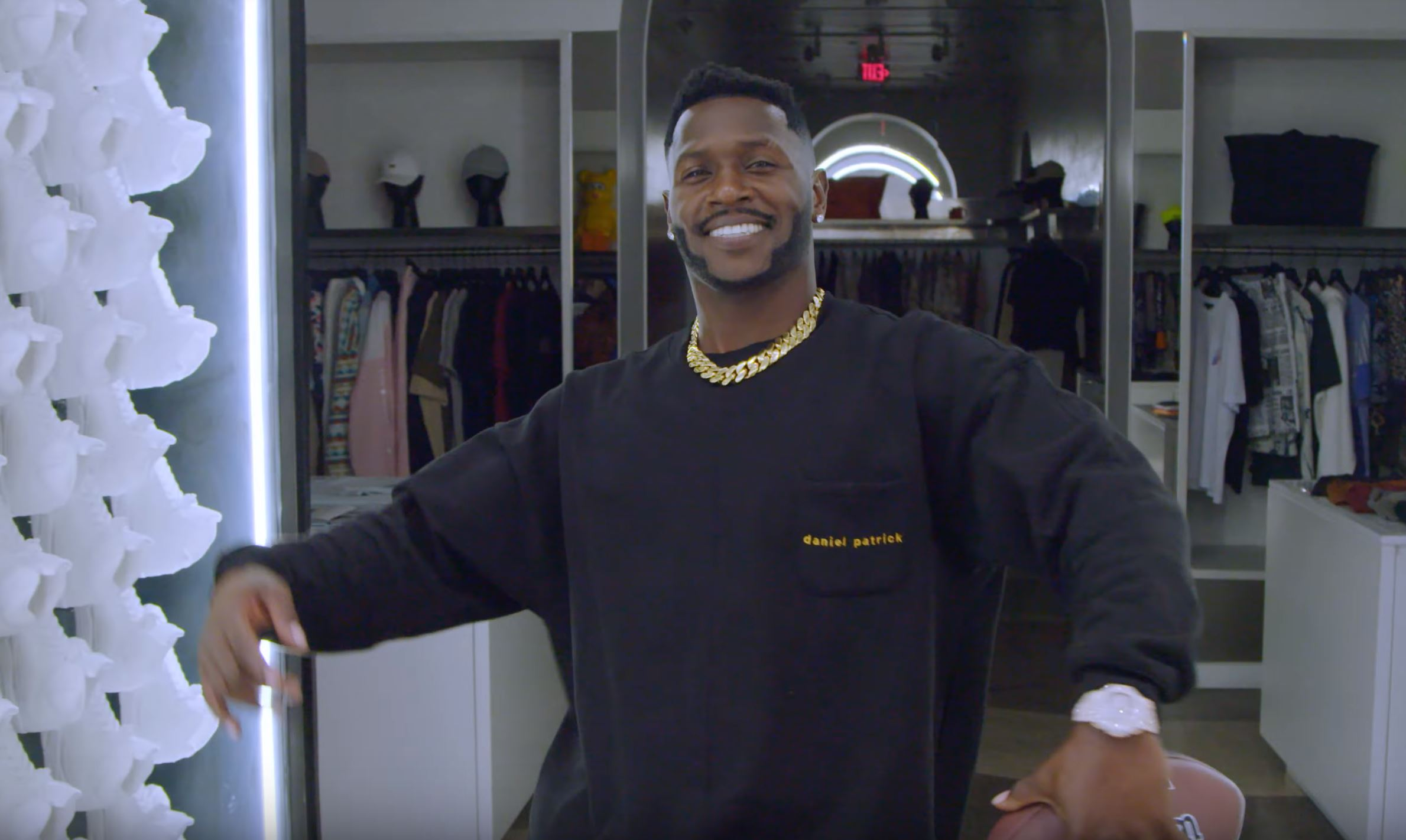antonio brown sneaker shopping