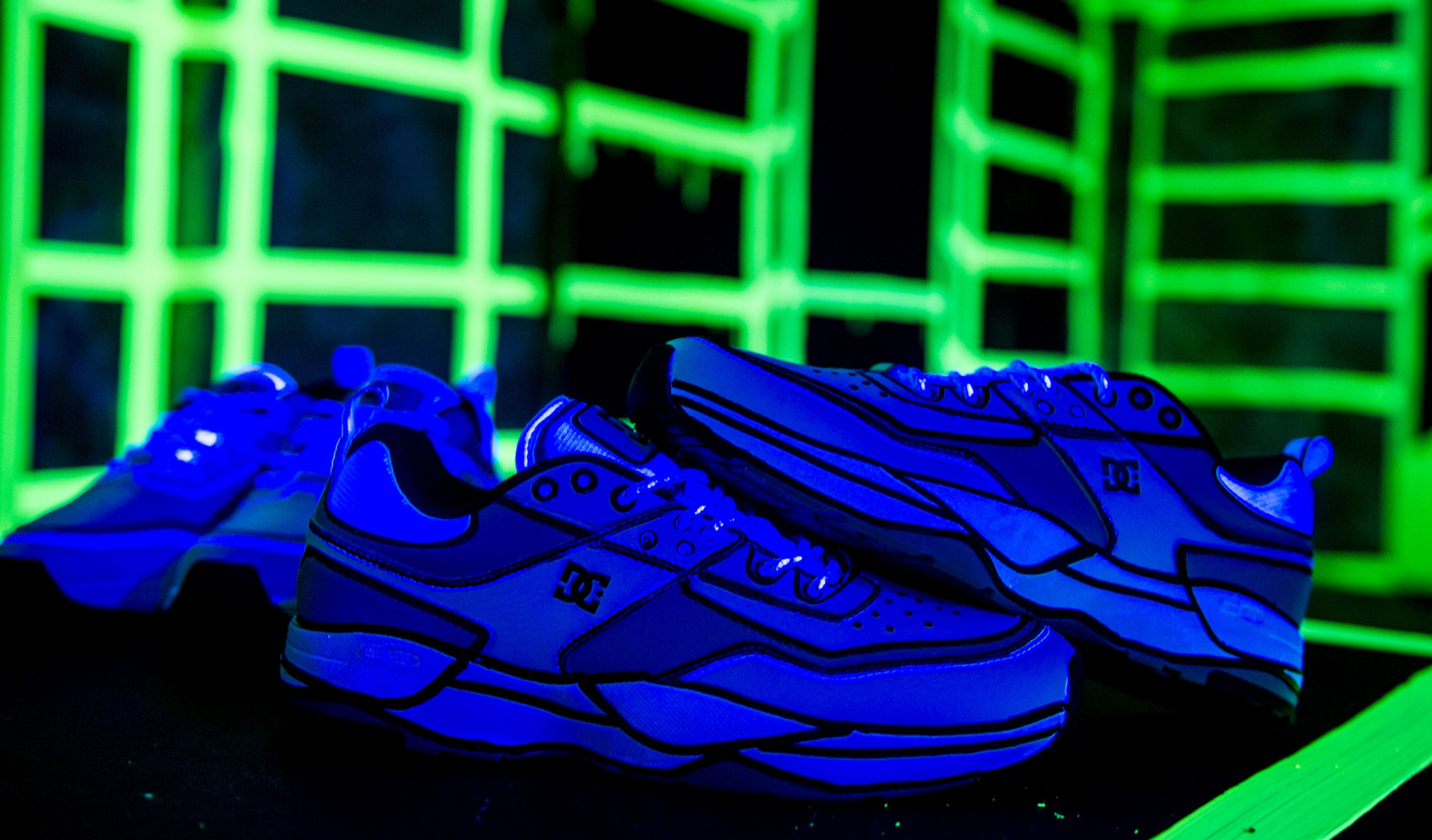 joshua vides reality to idea glow in the dark dc shoes tribeka