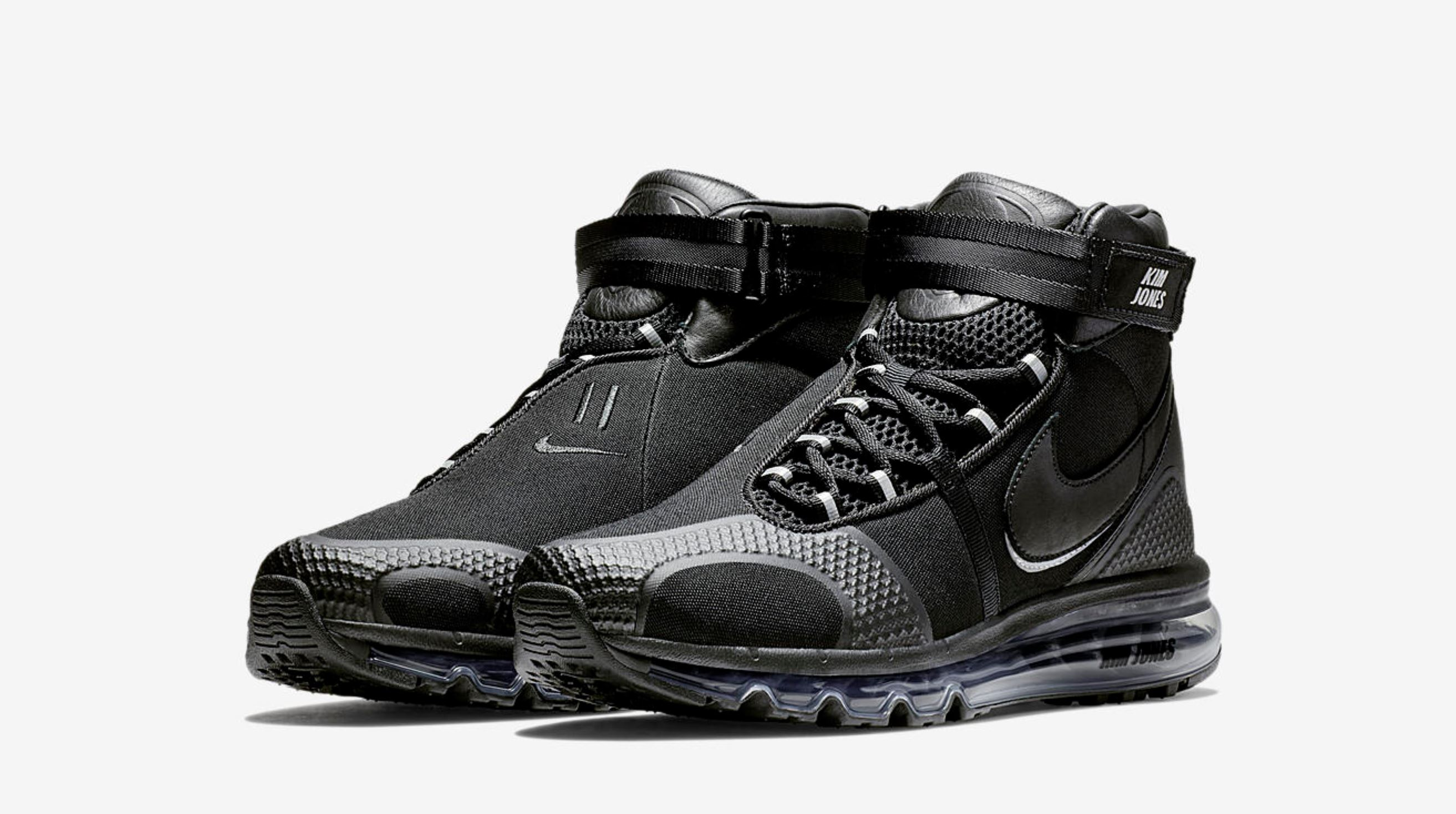 nike air max 360 high kim jones black