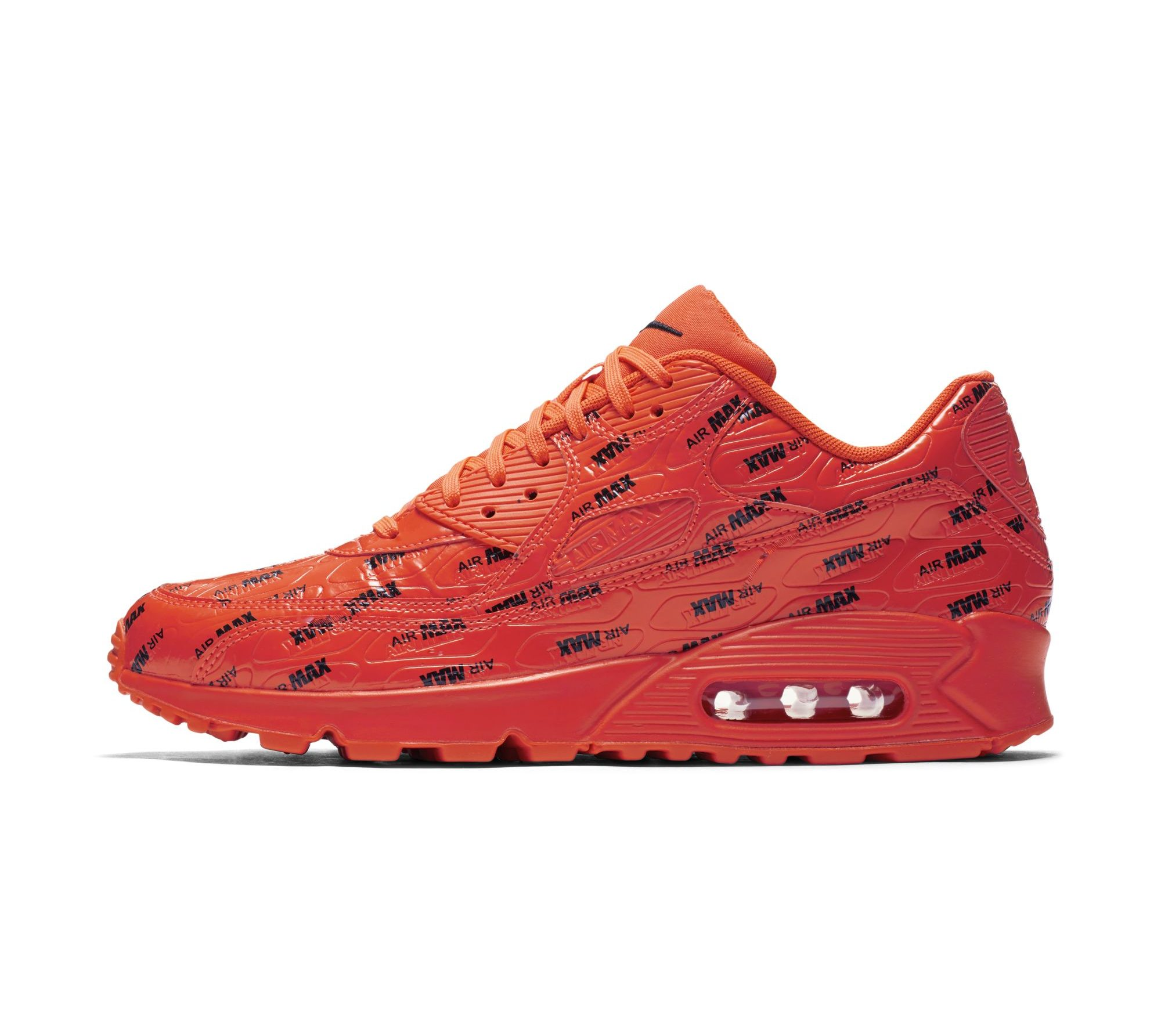nike air max 90 premium logo red