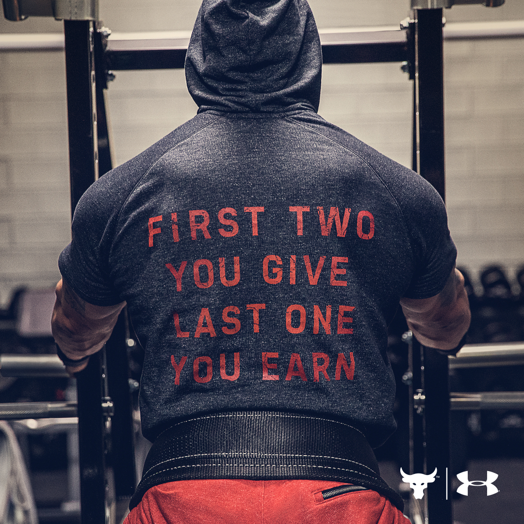 under armour Project Rock Chase Greatness apparel 1