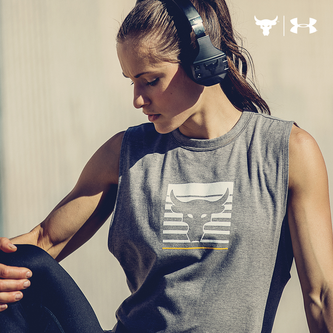 under armour Project Rock Chase Greatness apparel